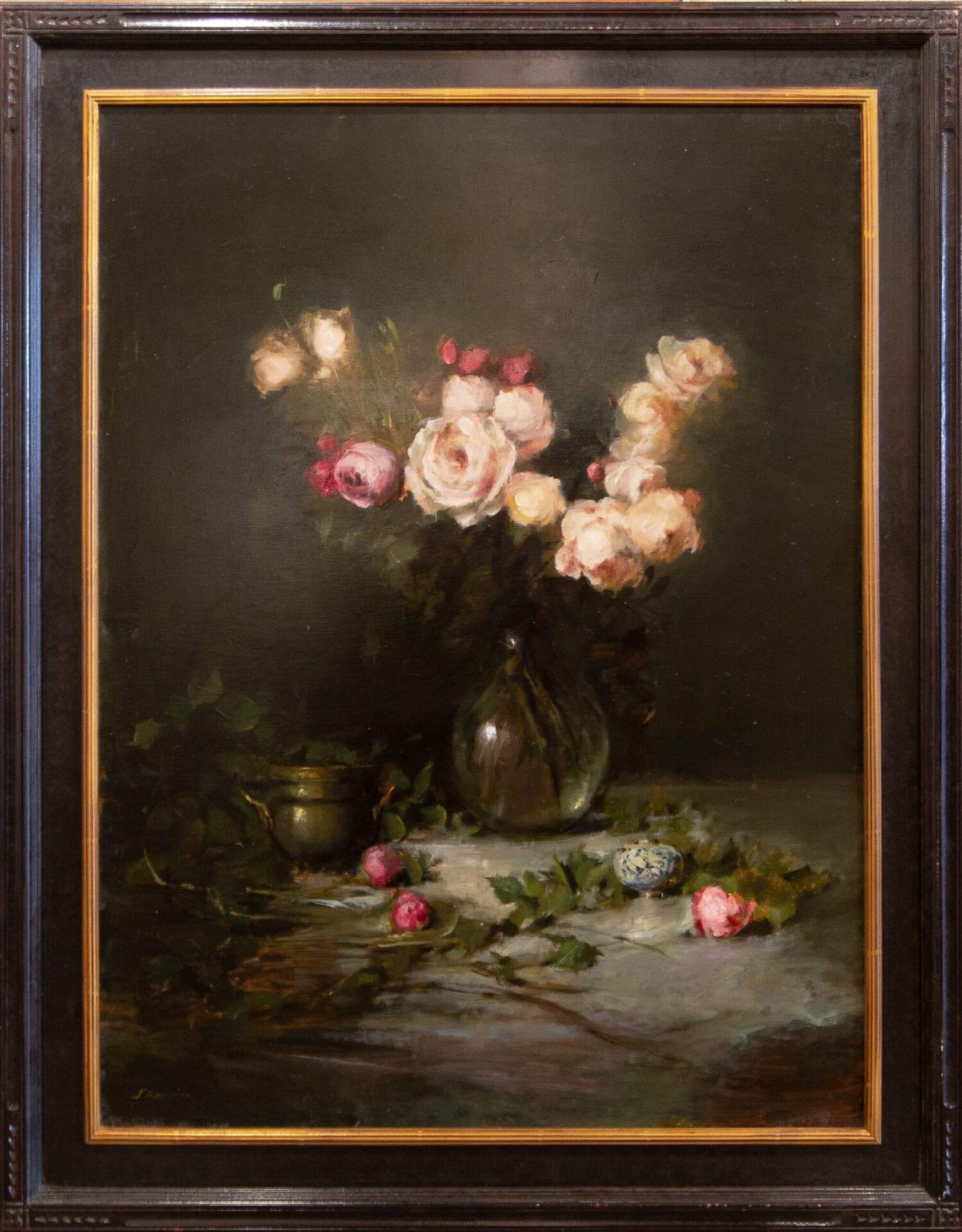 "Pink Roses   Jacqueline Kamin   40 x 30""   Oil"