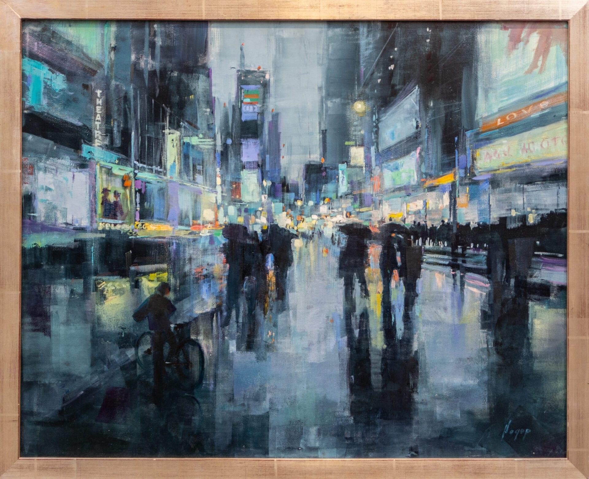 "Times Square NY | Hagop Keledjian | Oil | 24 x 30"""