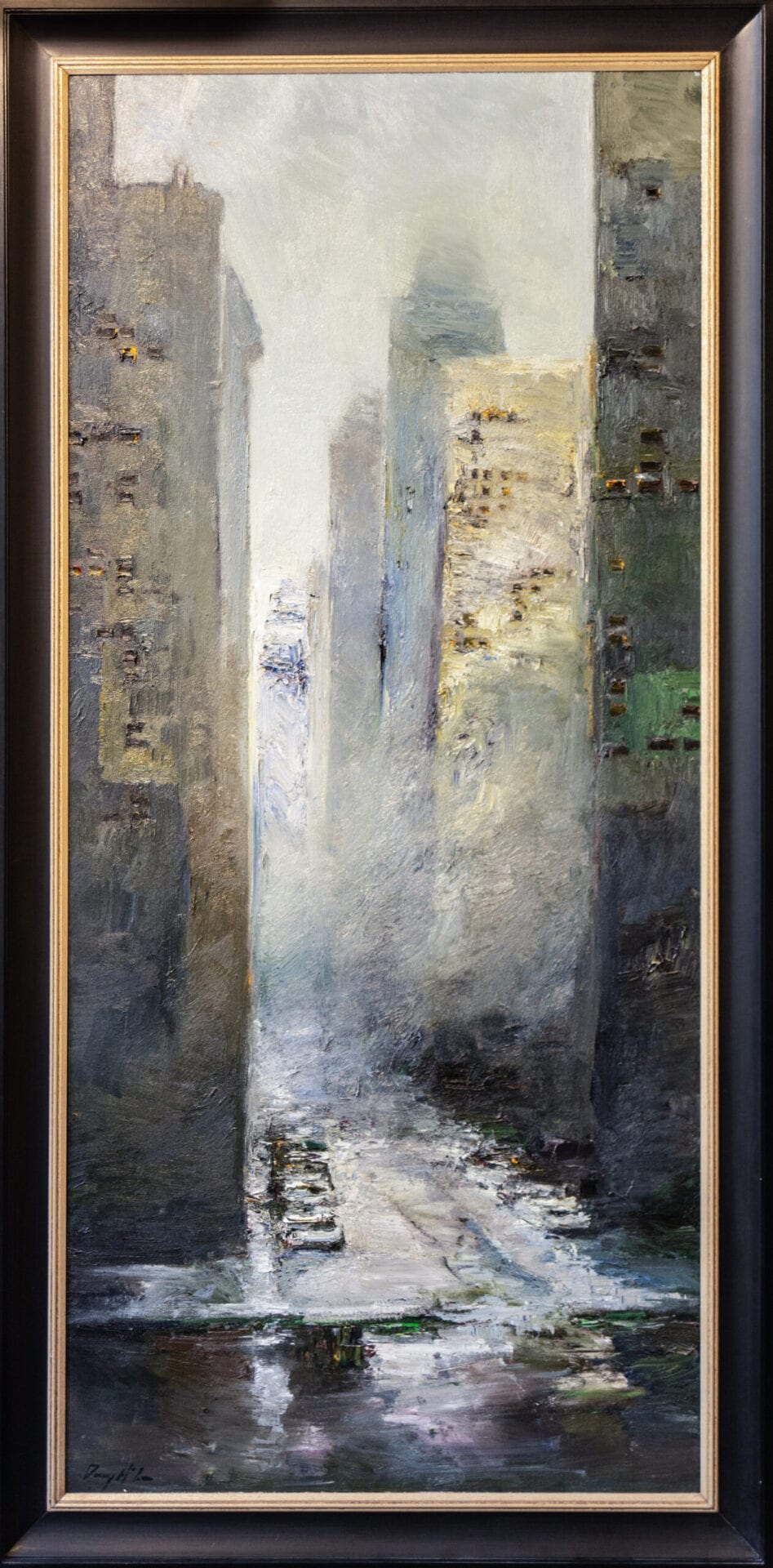 The City | Danny McCaw | Oil | 80 x 36""