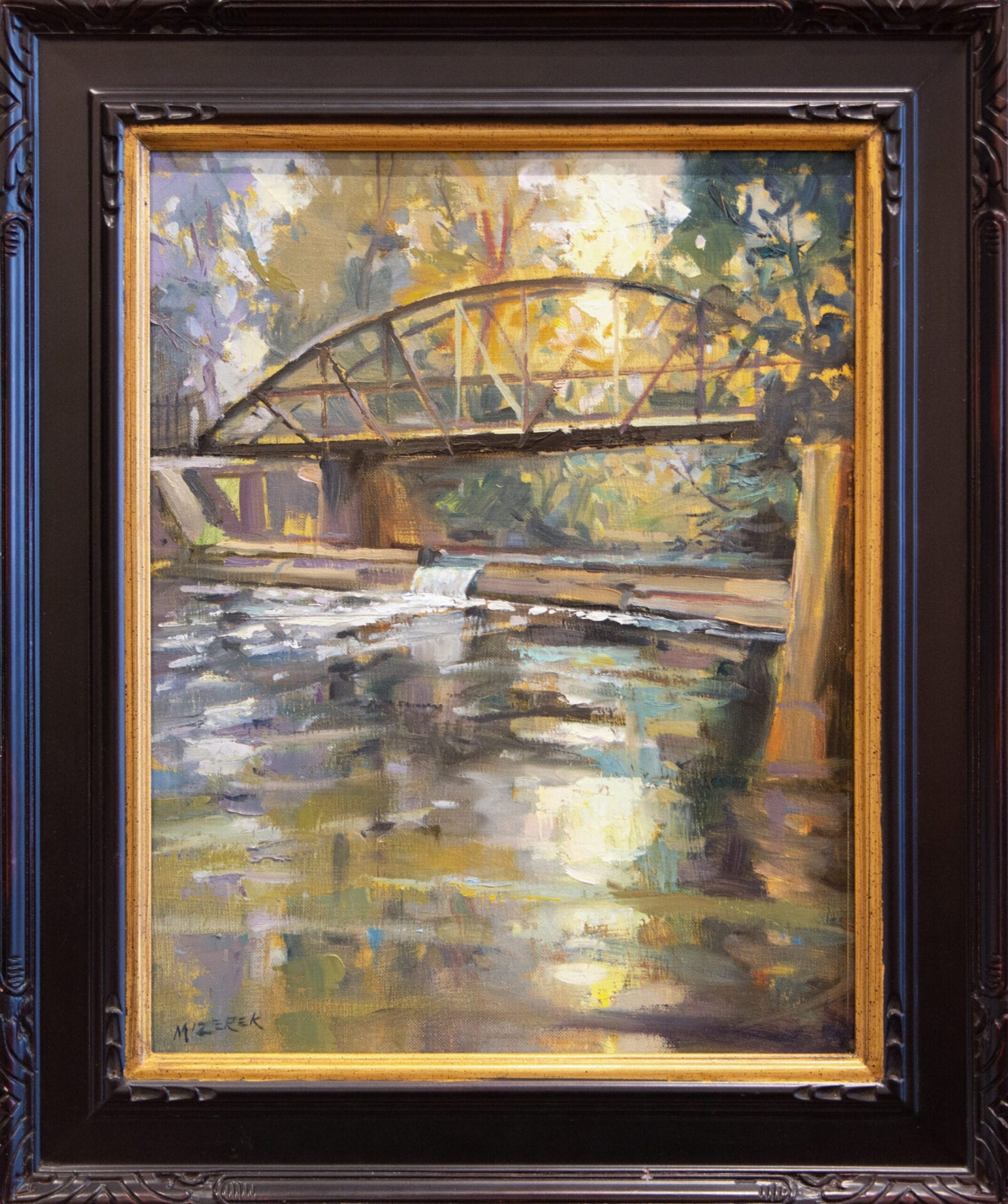 The Footbridge | Leonard Mizerek | Oil | 14 x 11""