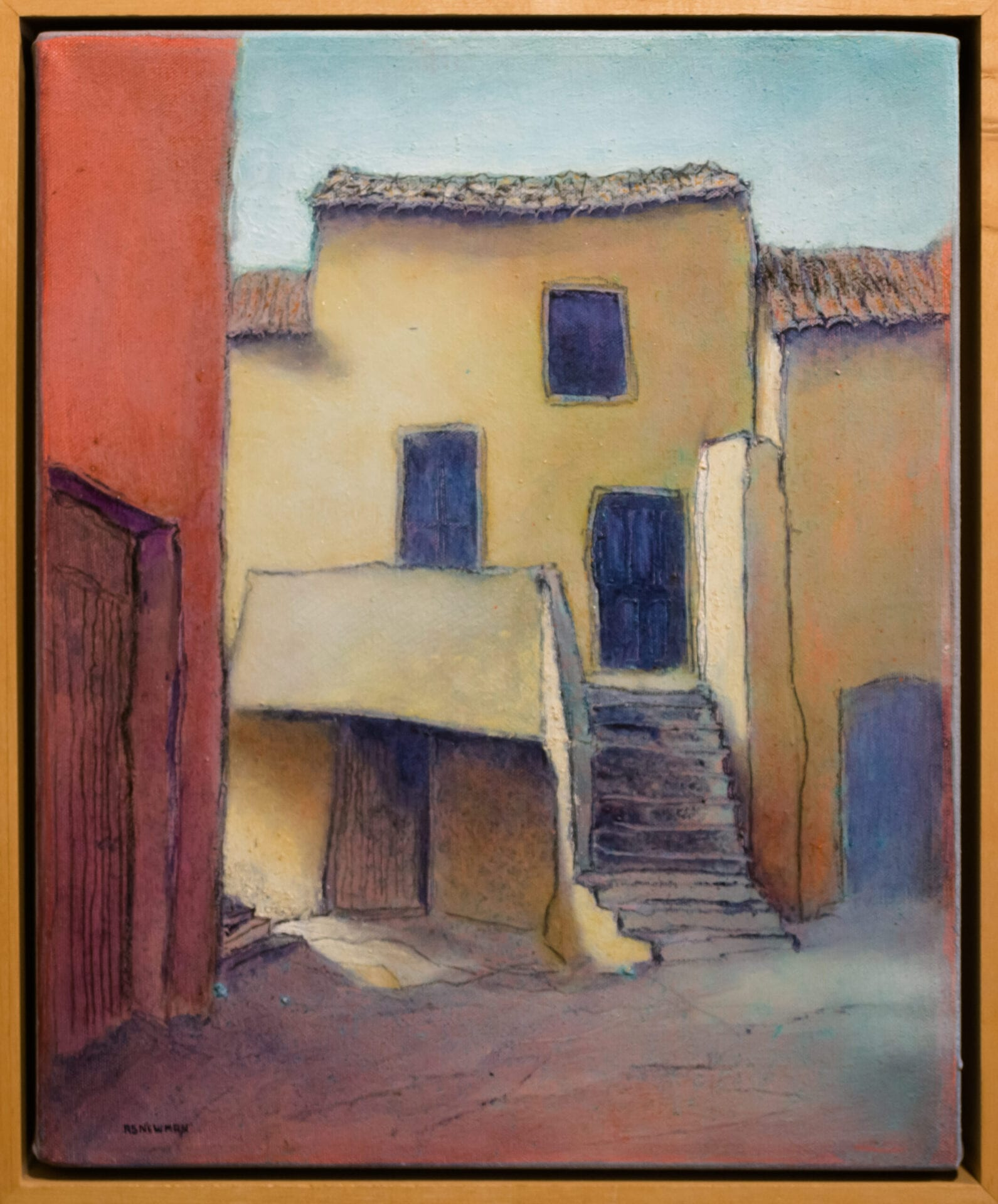 House with Stairs (St. Pons) | Andy Newman | Oil | 16 x 13""