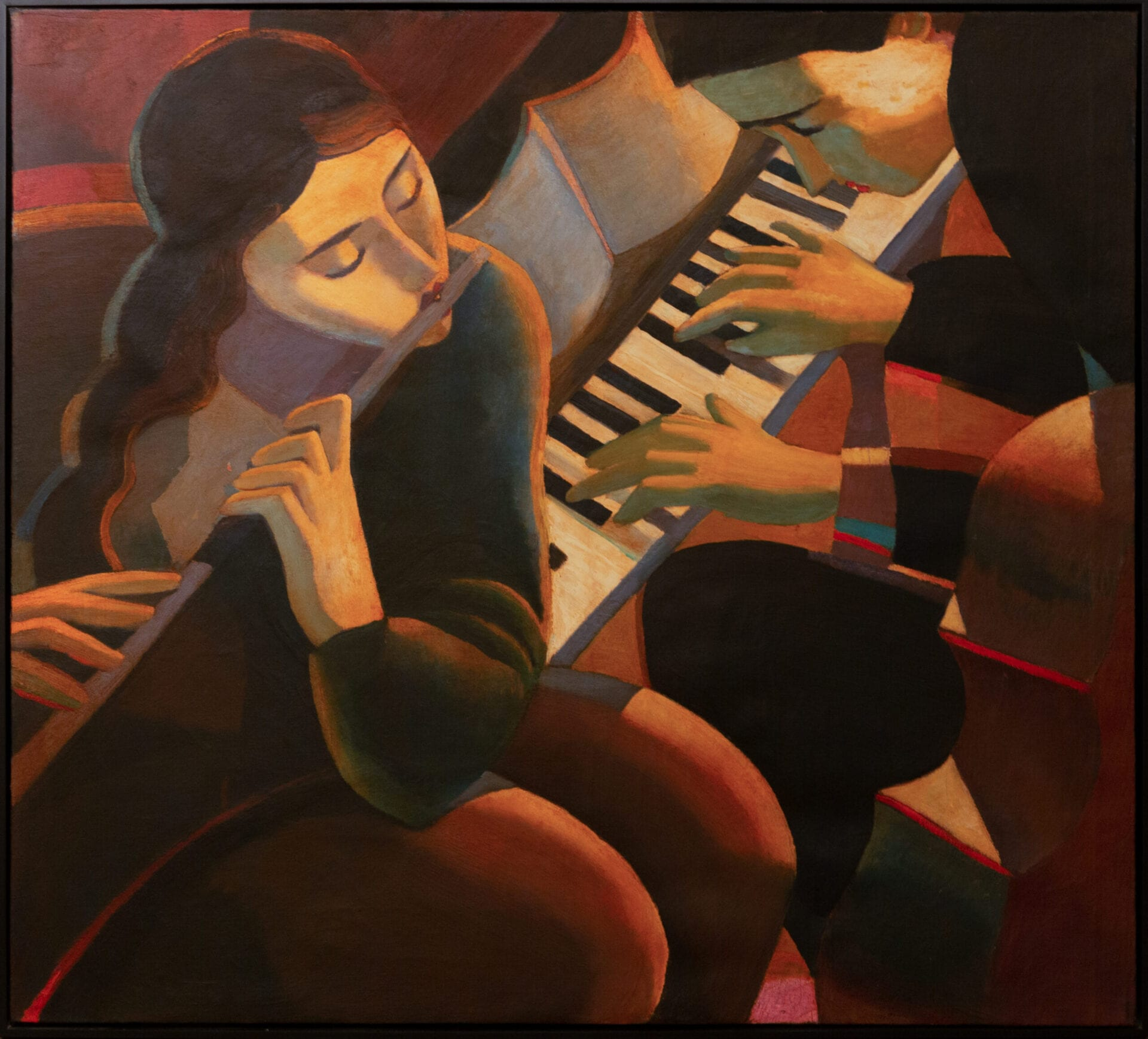 Jazz Duo | Michael Patterson | Oil | 40 x 45""