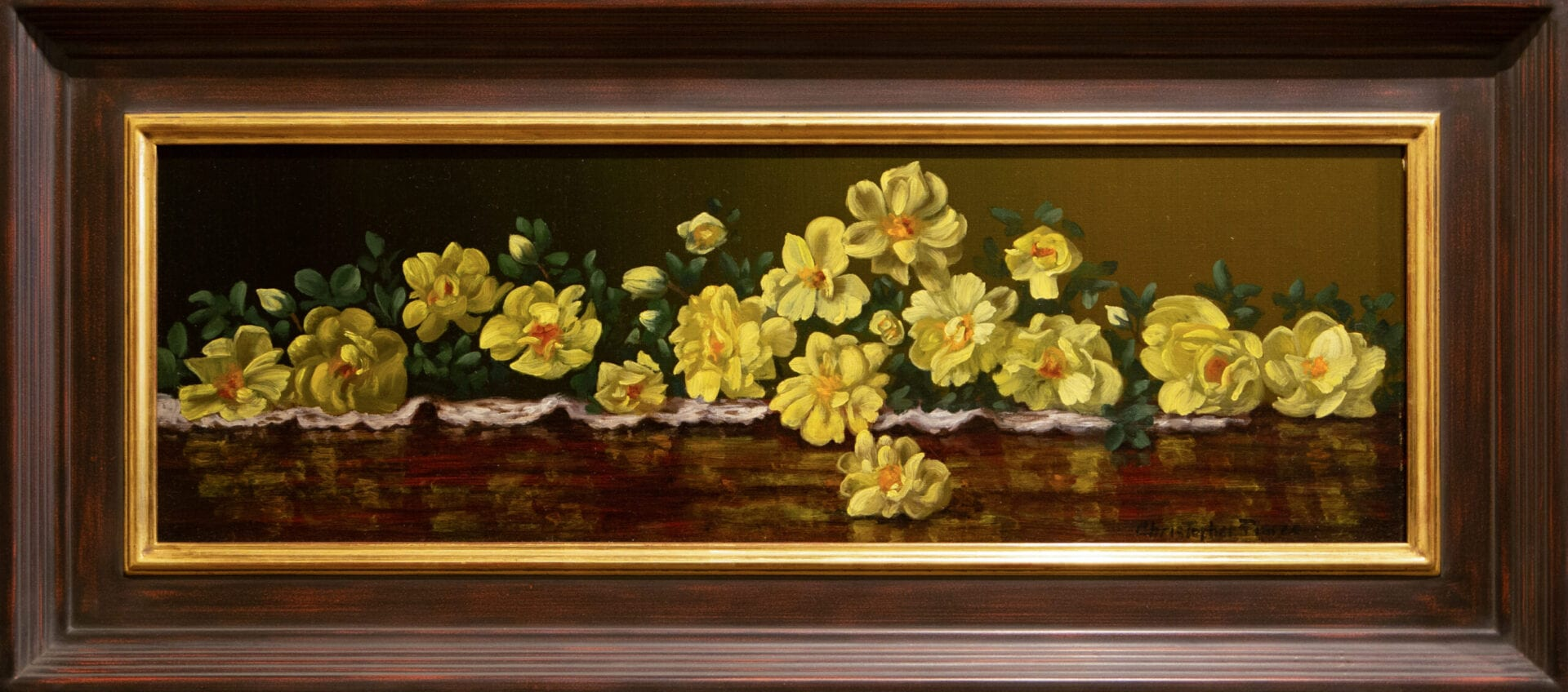 Yellow Roses | Christopher Pierce | Oil | 8 x 24""