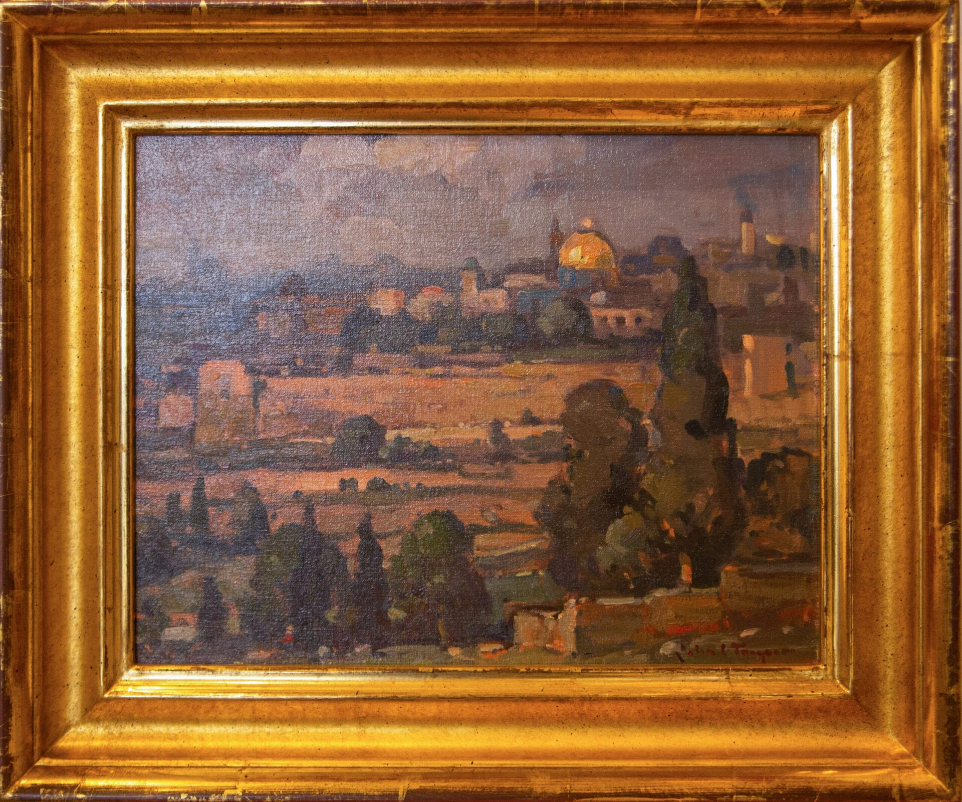 View of Jerusalem (Mt. of Olives) | John Traynor | Oil | 11 x 14""