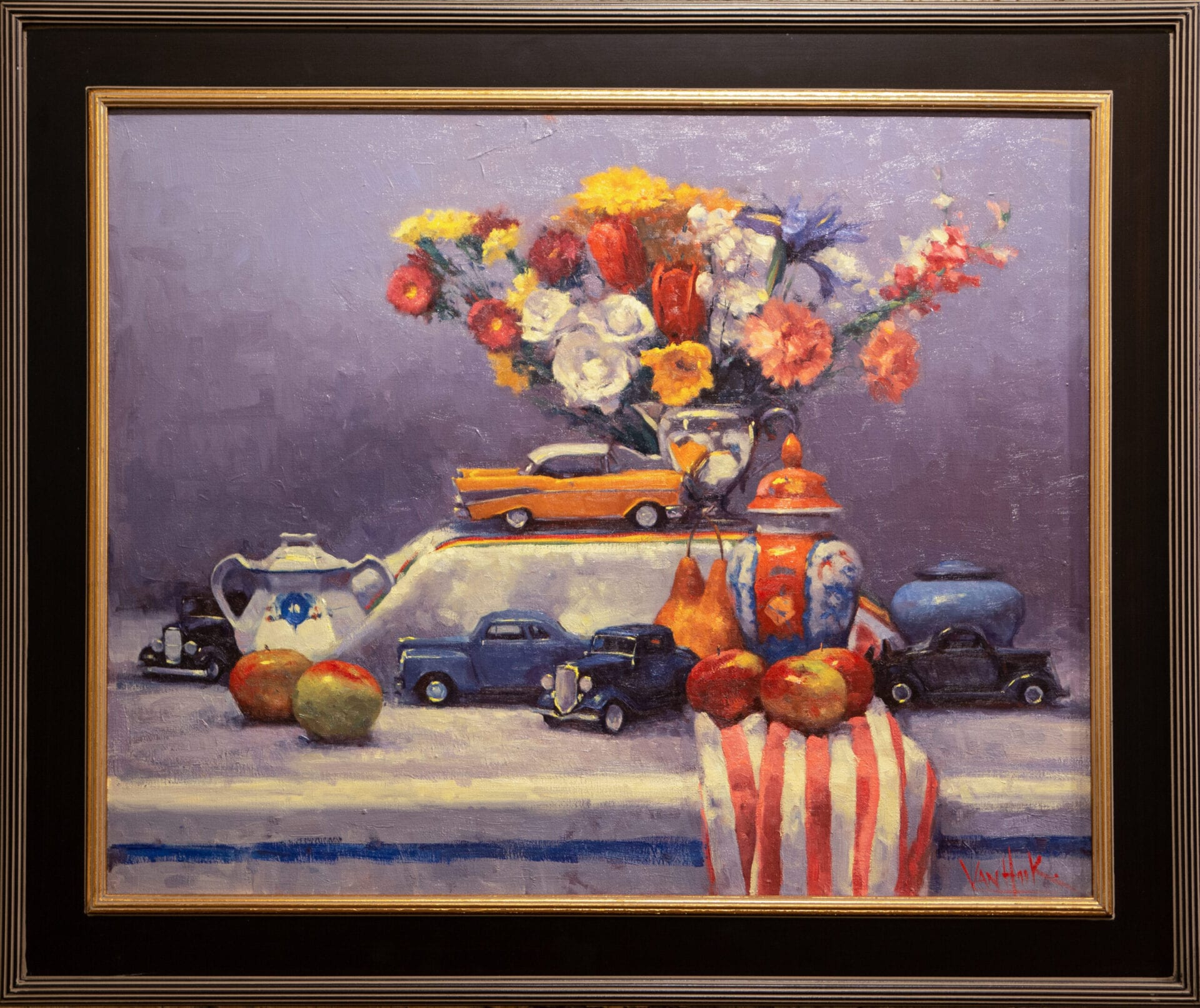 Still Life with Cars | George Van Hook | Oil | 24 x 30""