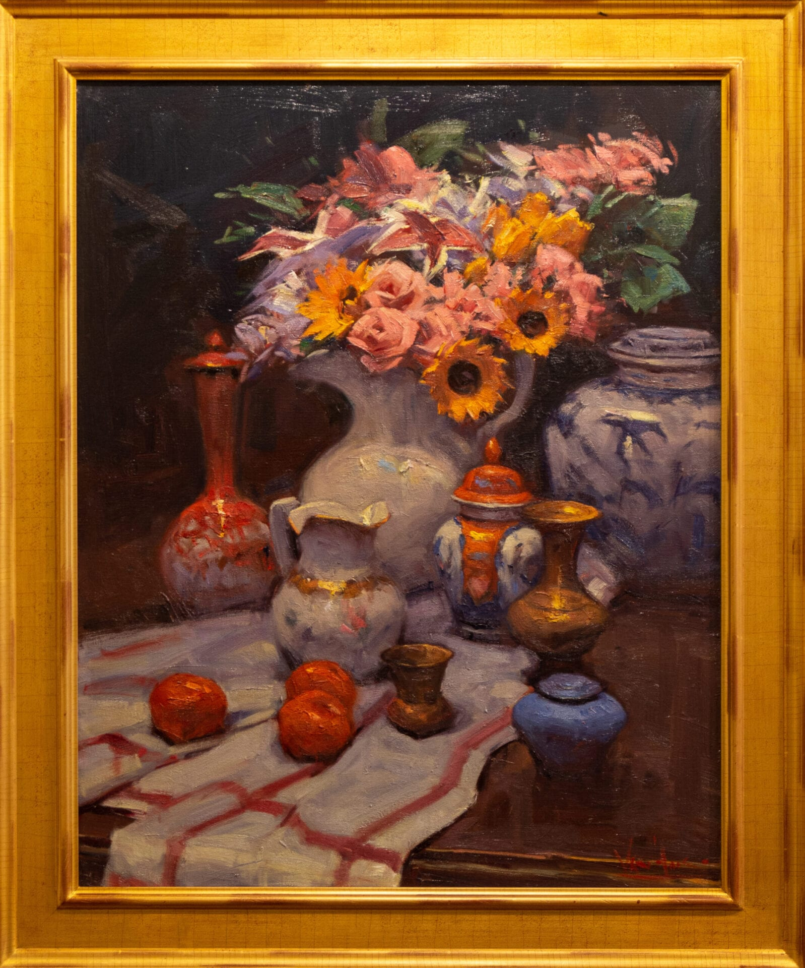 Still Life with Large Vase | George Van Hook | Oil | 30 x 24""