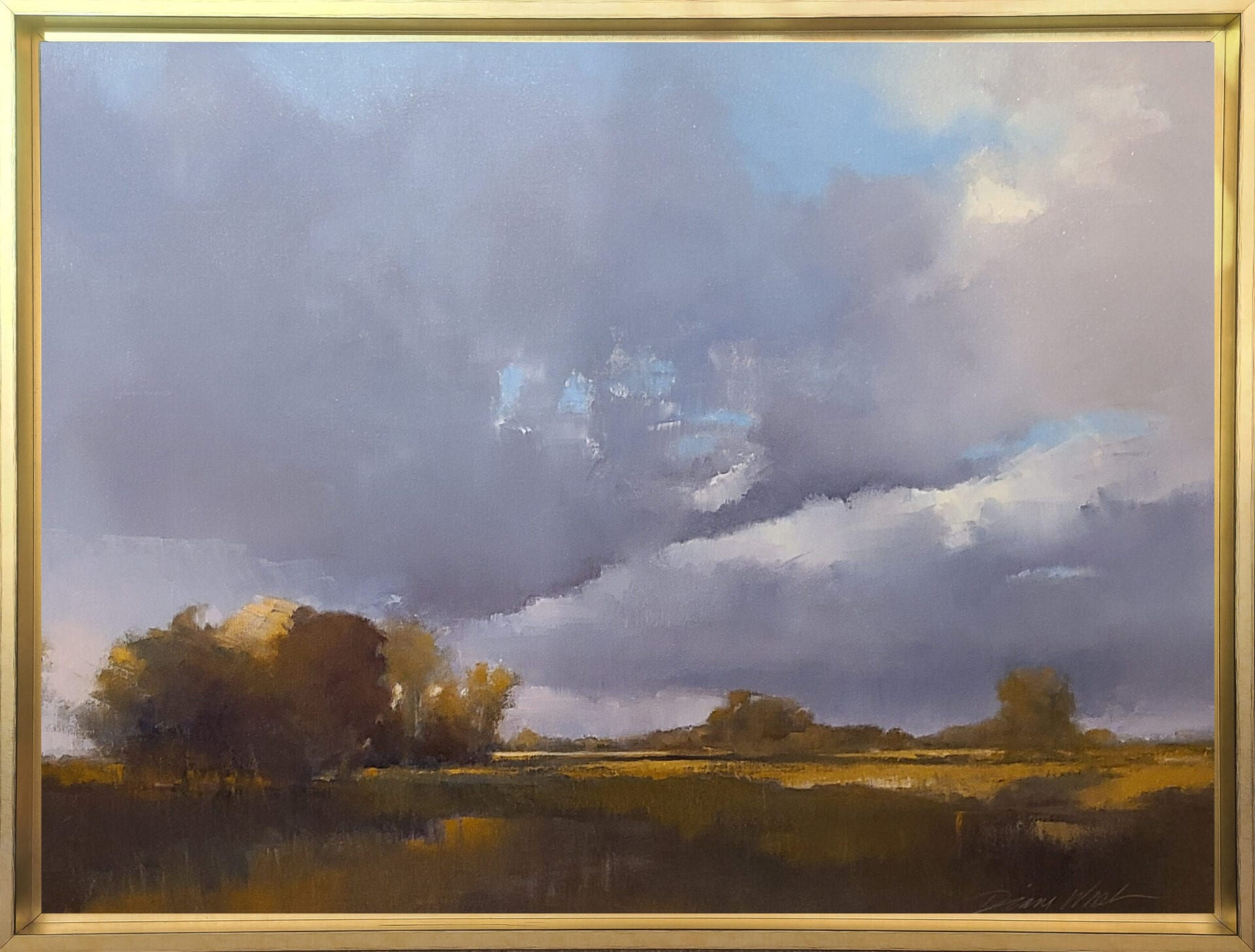 fall-migrates toward Mud Lake bottom | Diane Washa | Oil | 30 x 40""