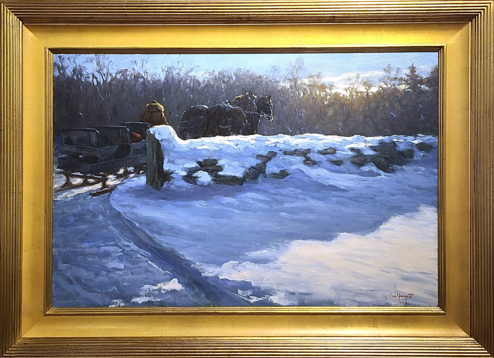 Winter Light | Shirley Cean Youngs | Oil | 24 x 36""