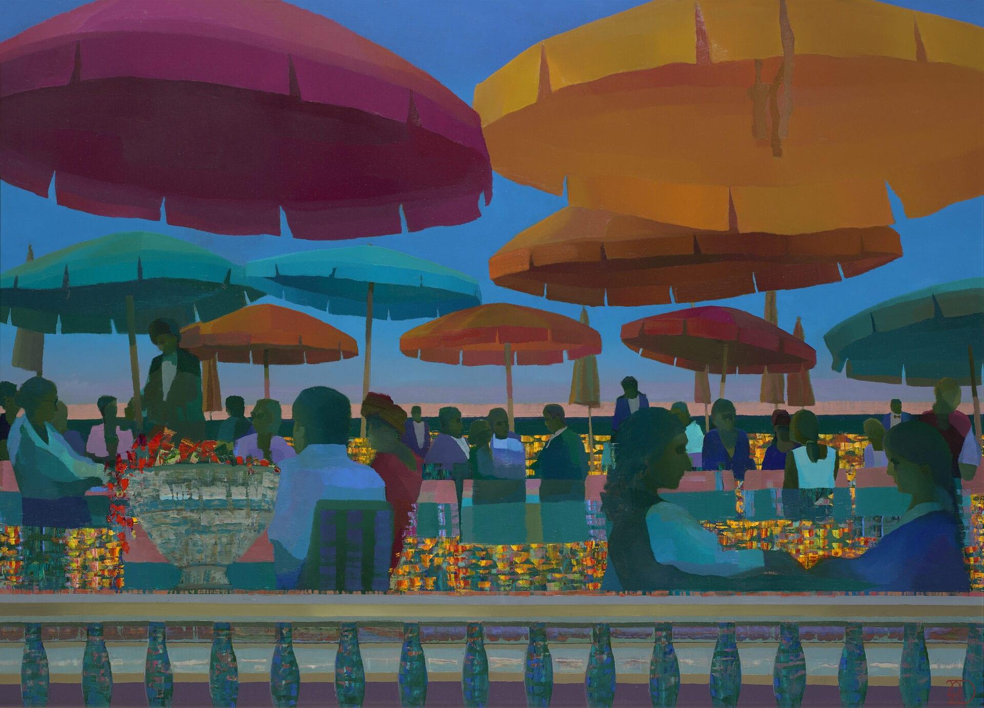 "Mediterranean Nights | Oil on Panel | 32 x 43"""