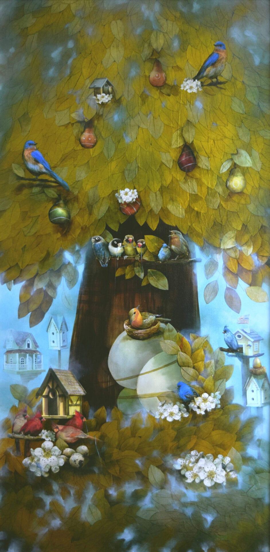 "Tree of Foggy Dreams | Oil | 75 x 37"""