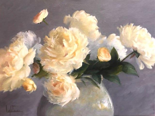 "Peonies and Ranunculus | Oil on Canvas | 18 x 24"""