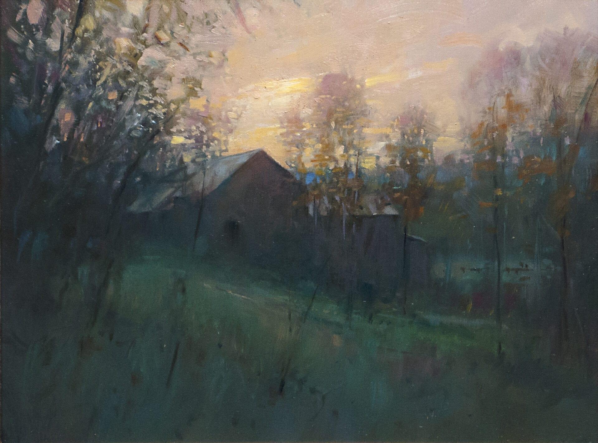 "October Silence | Oil on Linen | 12 x 16"""