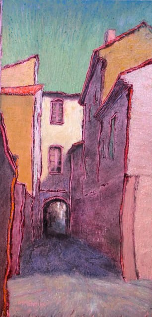 "Rue des Capucins (Uzes) | Oil | 12 x 6"""