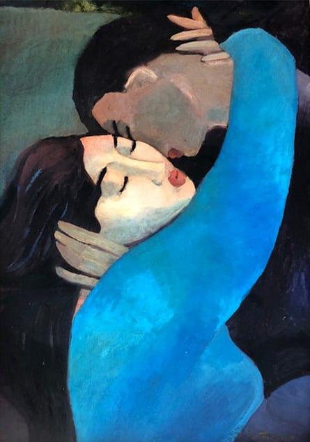 "Lovers | Oil | 36 x 24"""