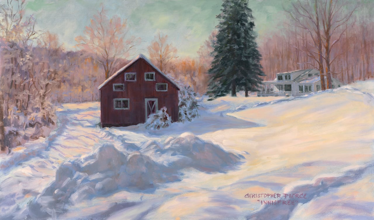 Winter From My Studio  | Oil on Canvas | 18 x 30