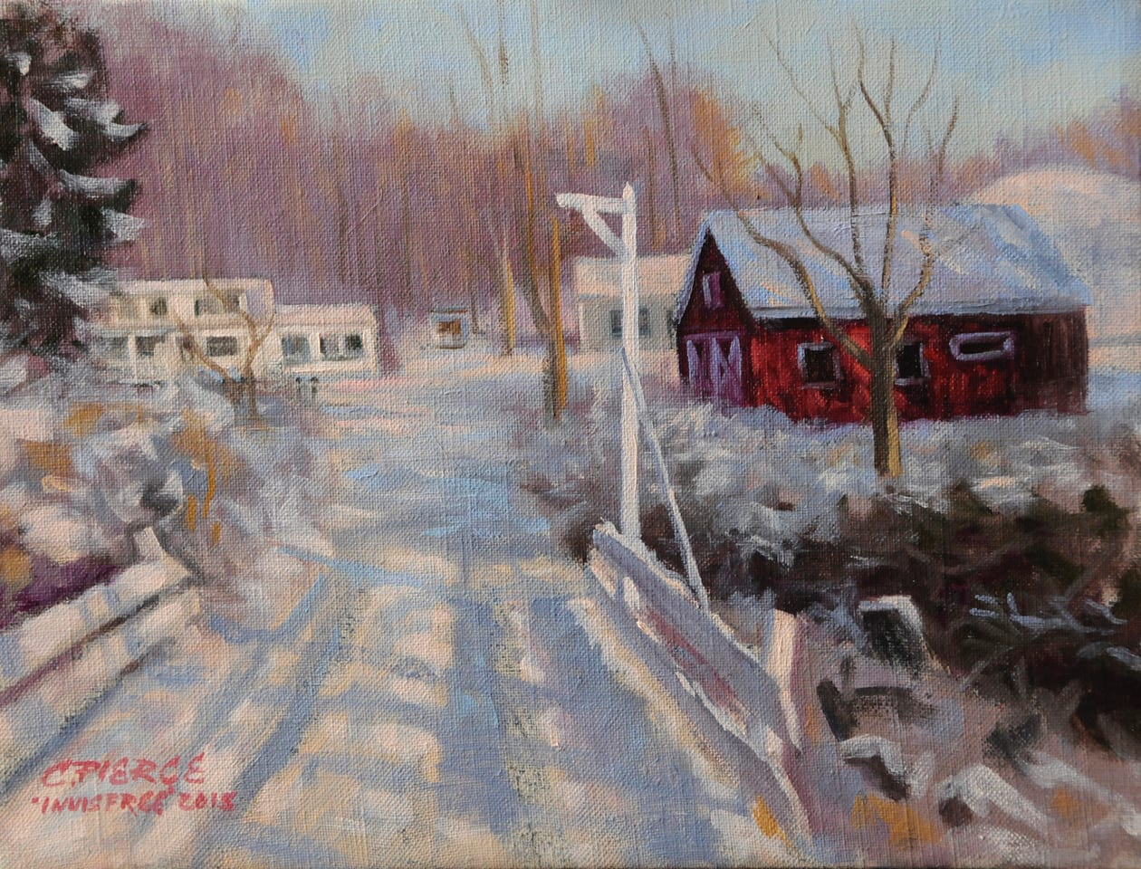 Walking Into Winter | Oil on Canvas | 9 x 12