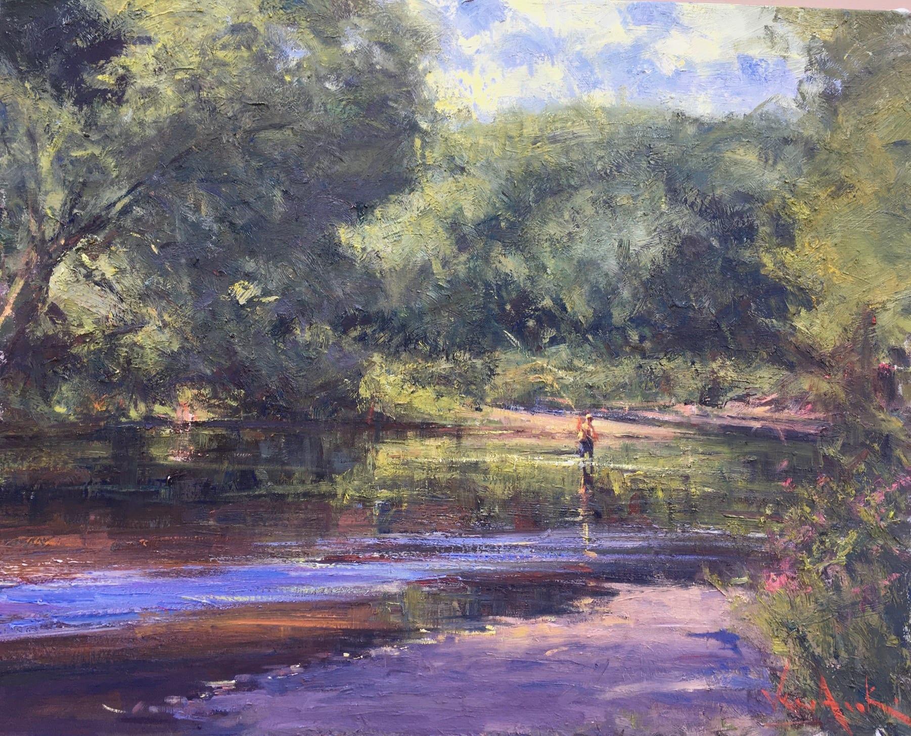"Summer Fishing | Oil on Linen | 24 x 30"""