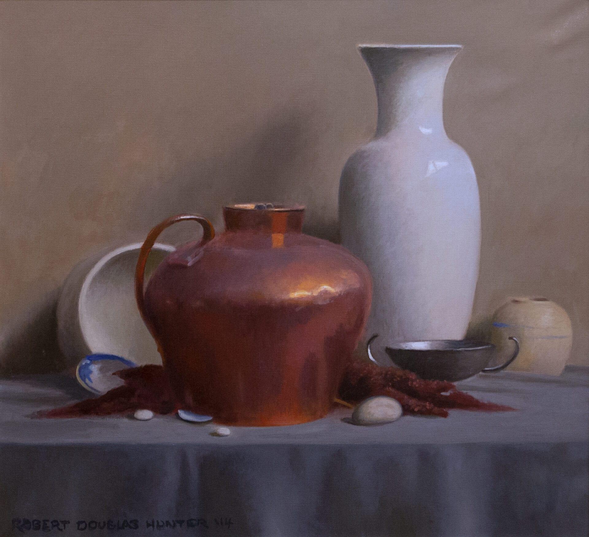 Robert Douglas Hunter - Still Life with a Copper Bowl