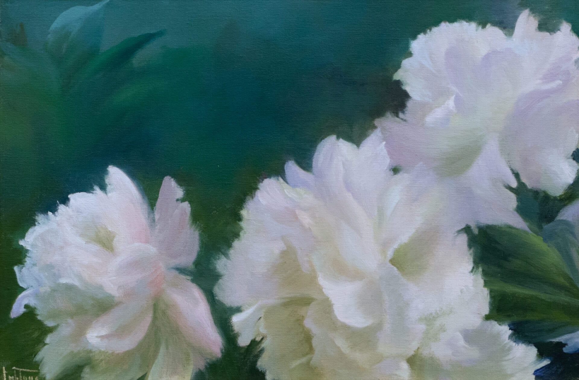 Jean Lightman - White and Green