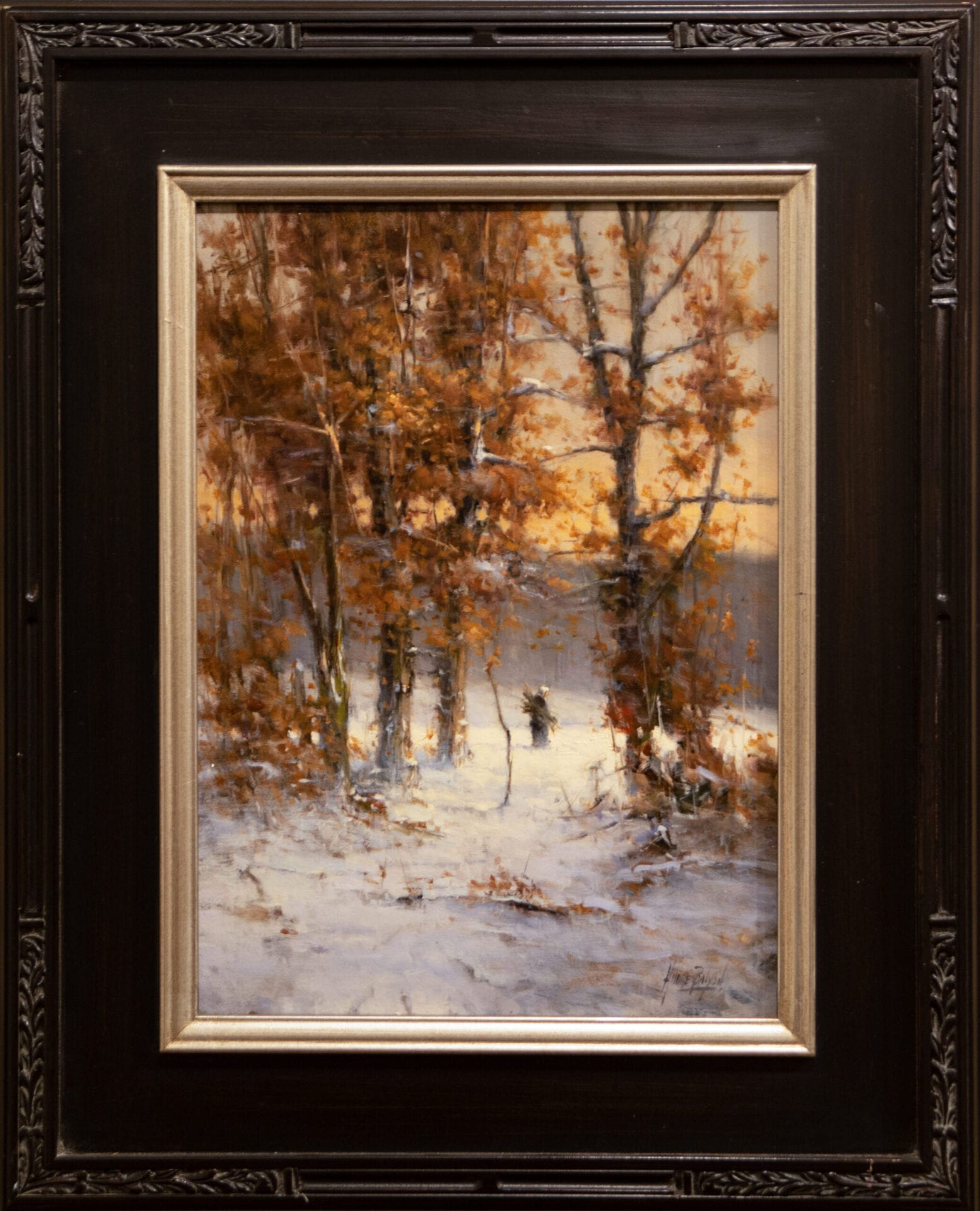 In a Winter's Forest | Andre Balyon | Oil on Canvas | 19 x 14""
