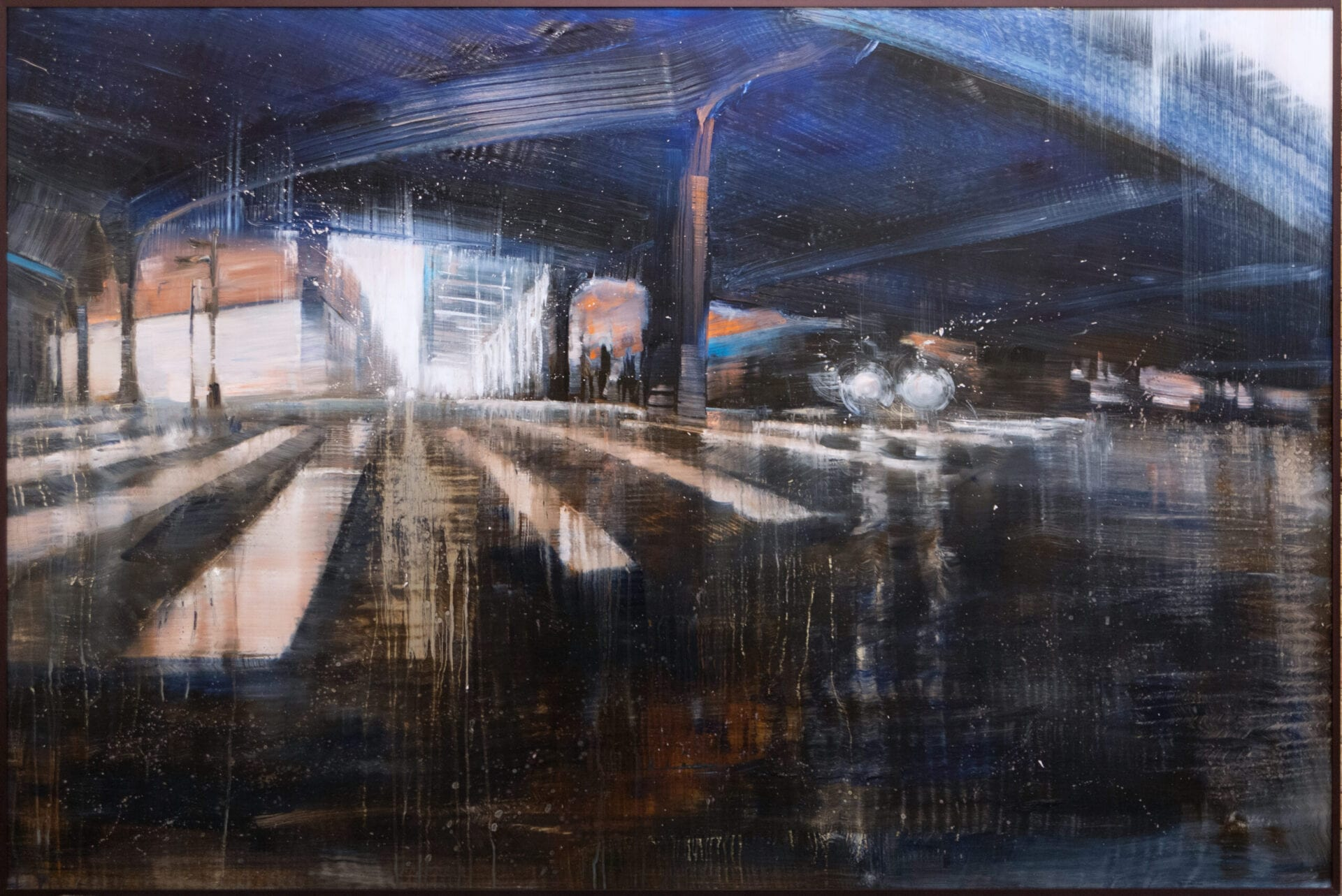 City Reflections | Max & David Dunlop | Oil on Aluminum | 48 x 72""