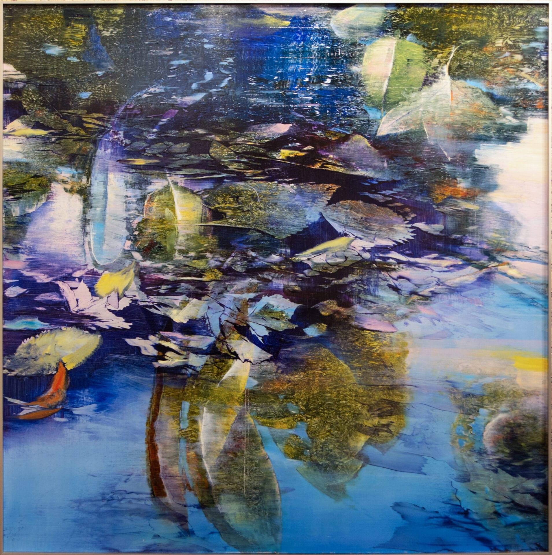 "Water Patterns | David Dunlop | Oil on Aluminum | 48 x 48"""