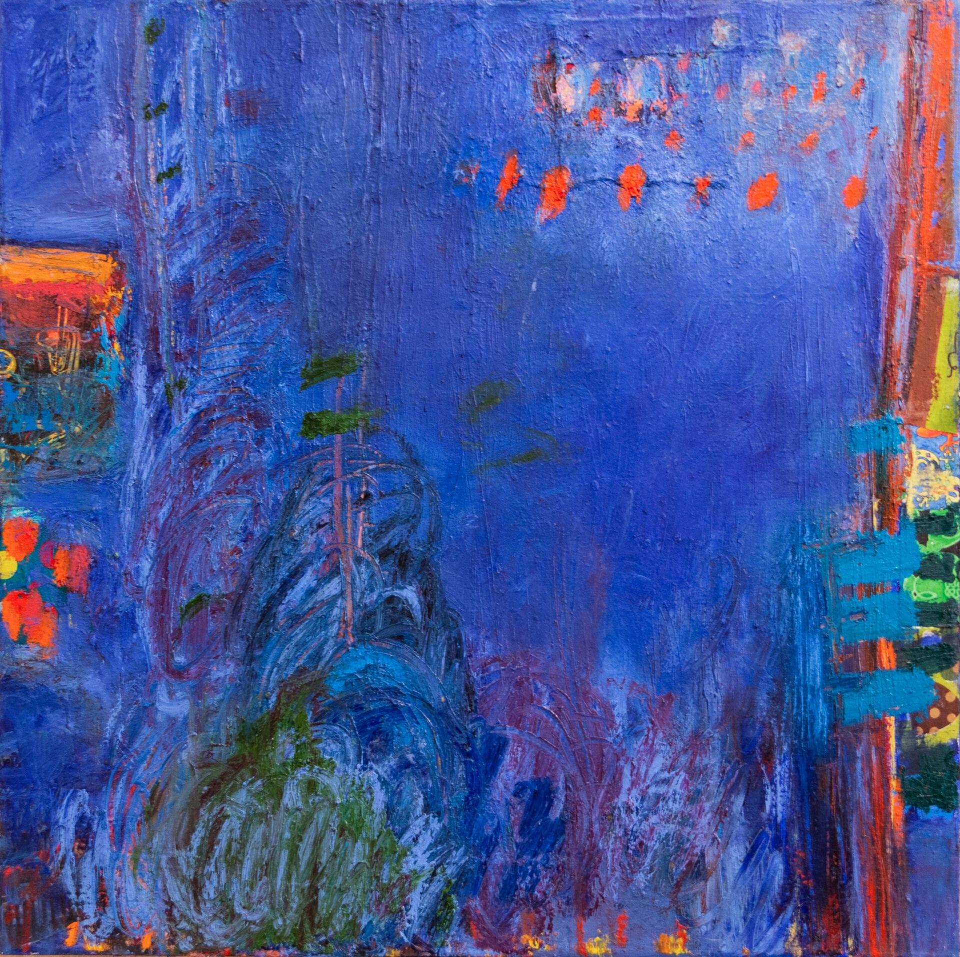 "Geometric Cycles II | Leya Evelyn | Oil/Mixed Media on Canvas | 30 x 30"""