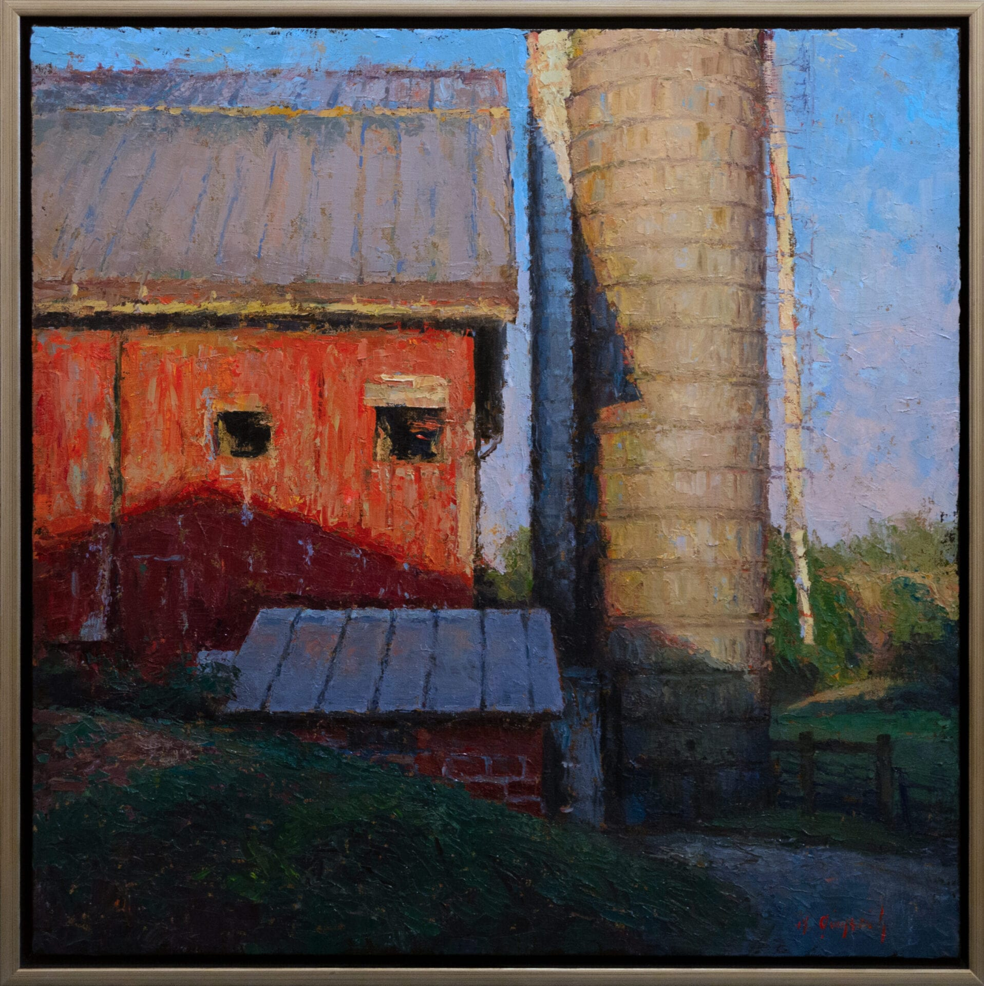The Red Barn | Mark Gingerich | Oil on Canvas | 30 x 30""