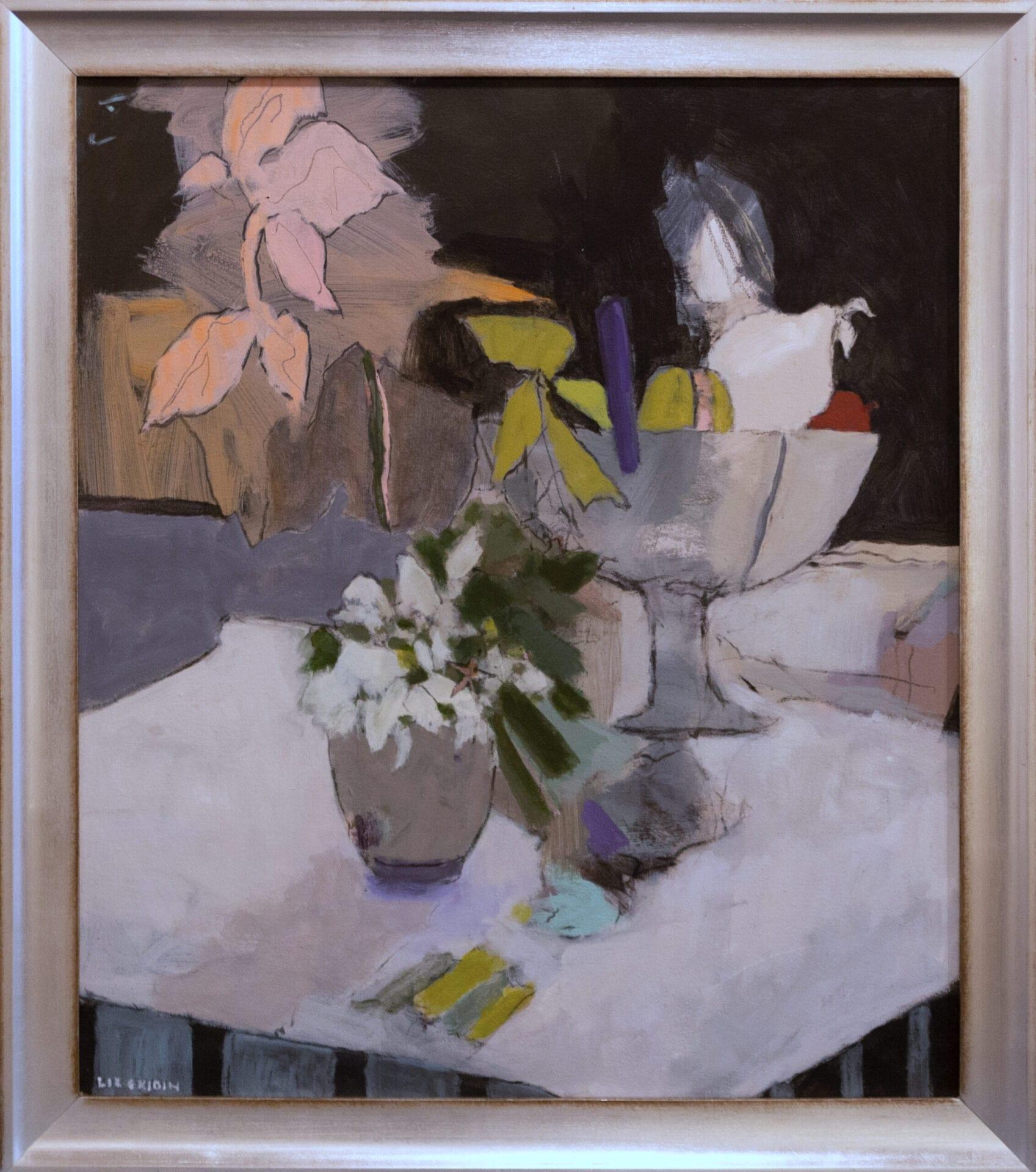 """Fruit and Flowers   Liz Gribin   Acrylic on Canvas   30 x 26"""""""