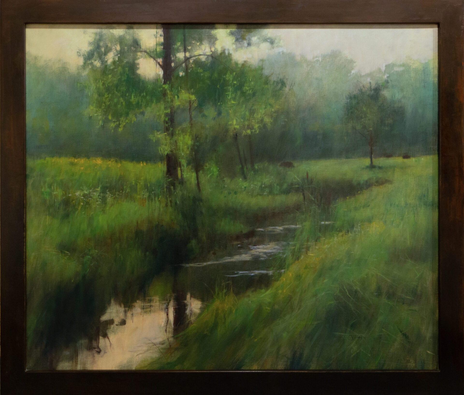 "The Stream | Curt Hanson | Oil on Canvas | 42 x 50"""