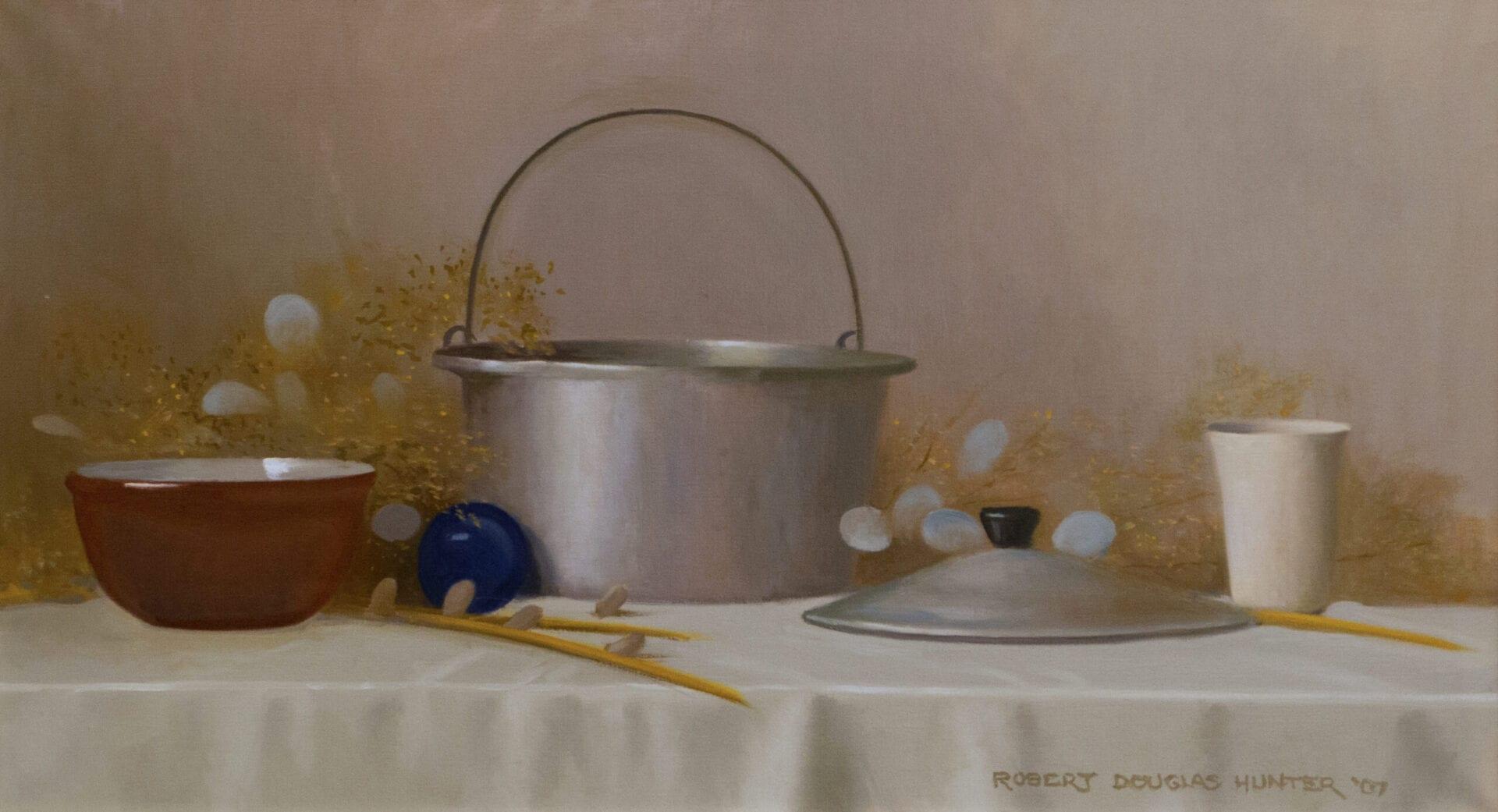 Robert Douglas Hunter - Still Life with Aluminum Cooking Kettle