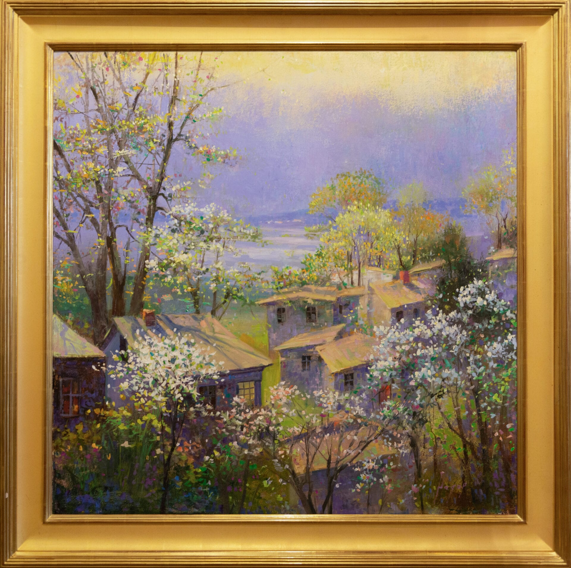 "Early Spring | Hagop Keledjian | Oil on Canvas | 36 x 36"""