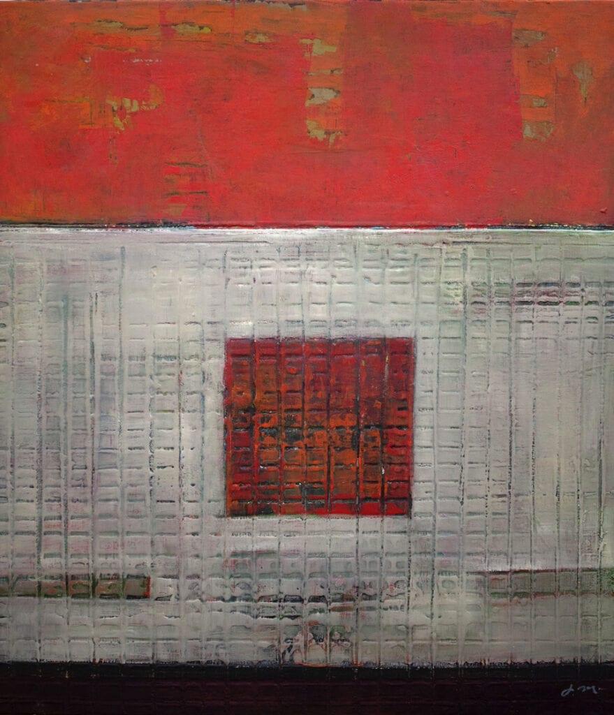 "Grid | John McCaw | Oil on Canvas | 45 x 40"""