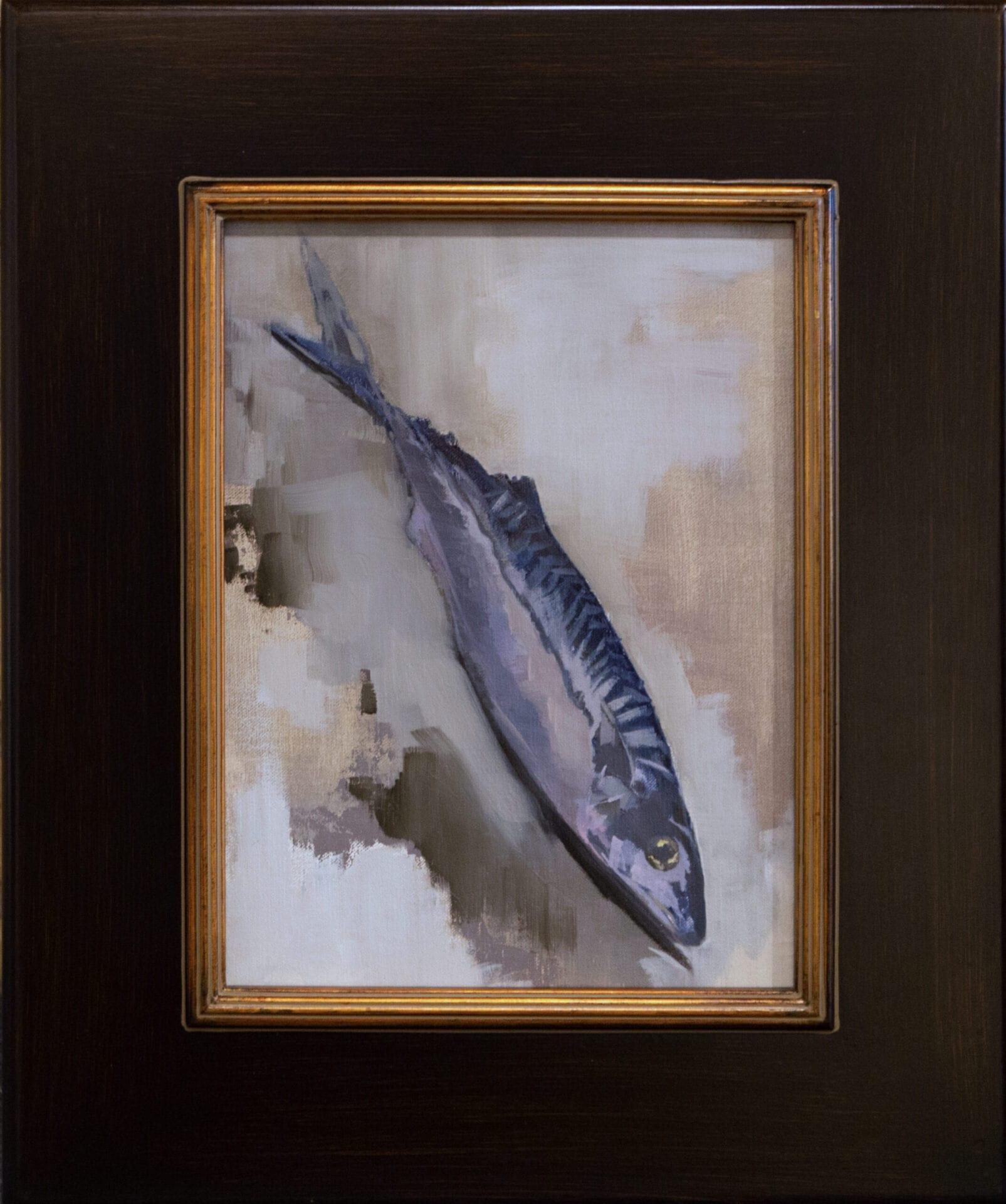 "fish fowl flood water lily mud my life   Diane Washa   Oil on Panel   12 x 9"""
