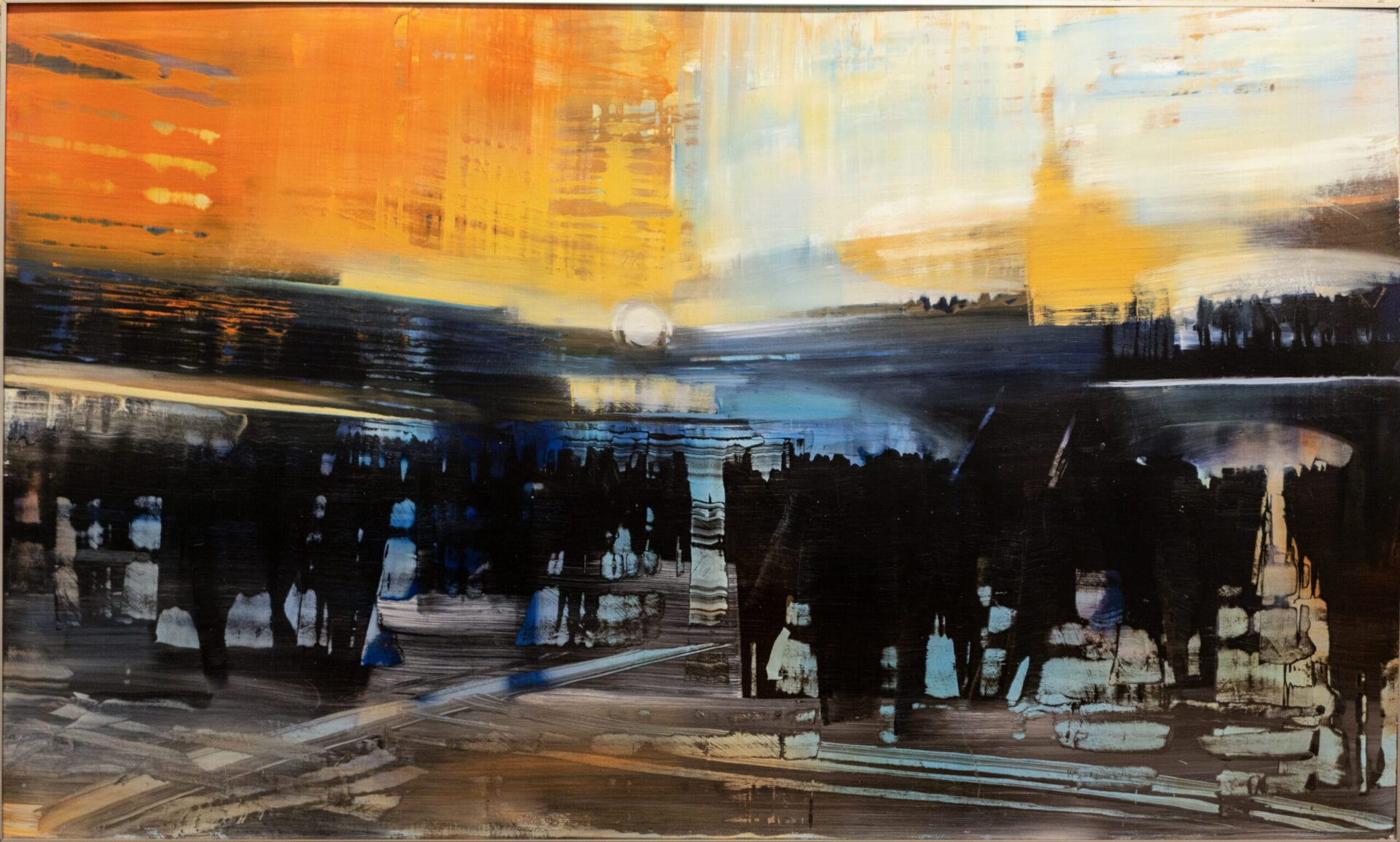 David Dunlop | City Life in the Station | 36 x 60"