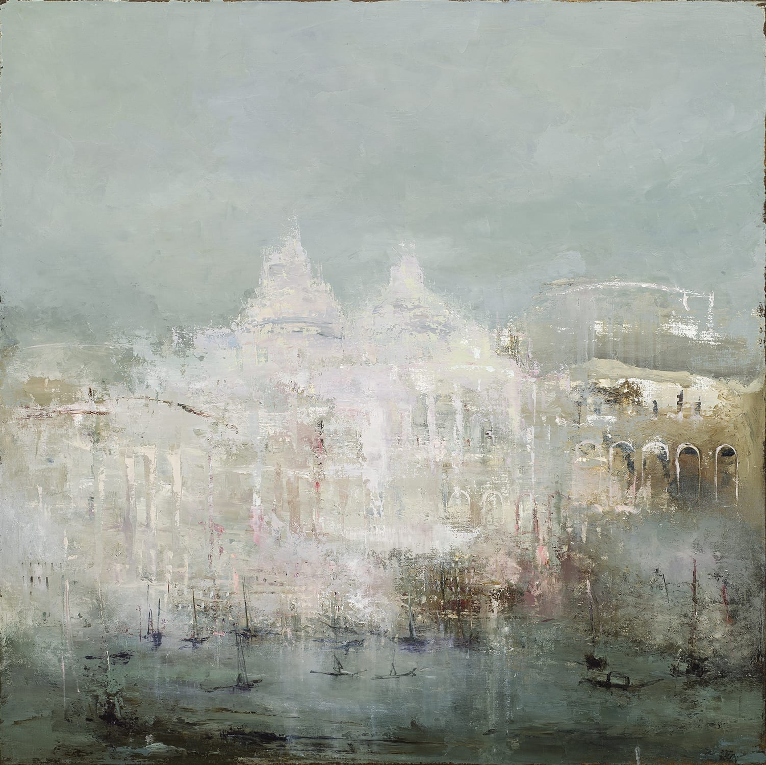 """An hour is a sea between a few and me   France Jodoin   oil on linen   48x48"""""""