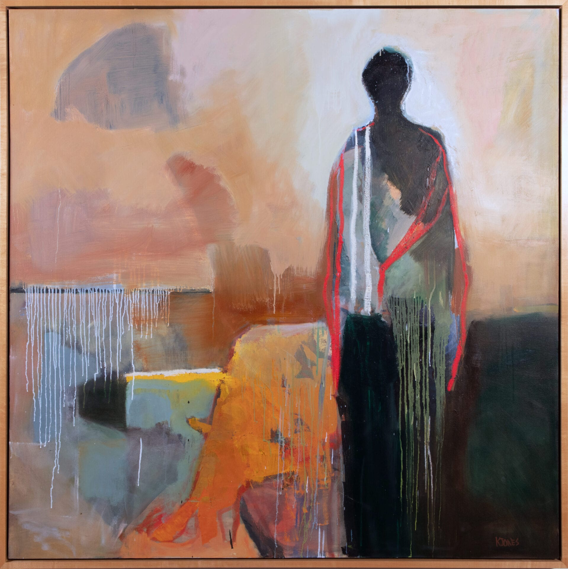 "I Made it Through   Kathy Jones   Oil on Canvas   48 x 48"""