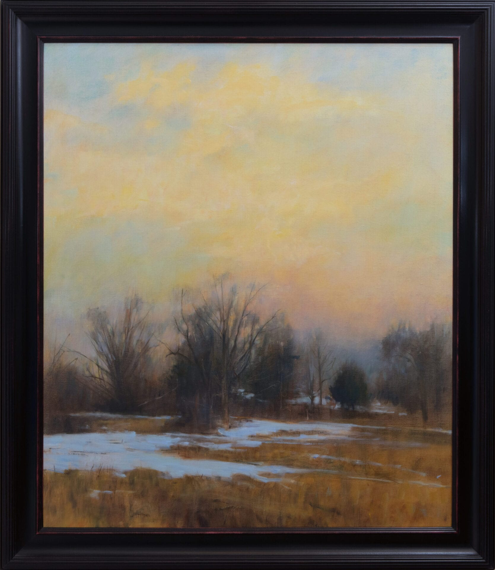 Traces of Snow | Curt Hanson | Oil on Canvas | 46 x 38.5""