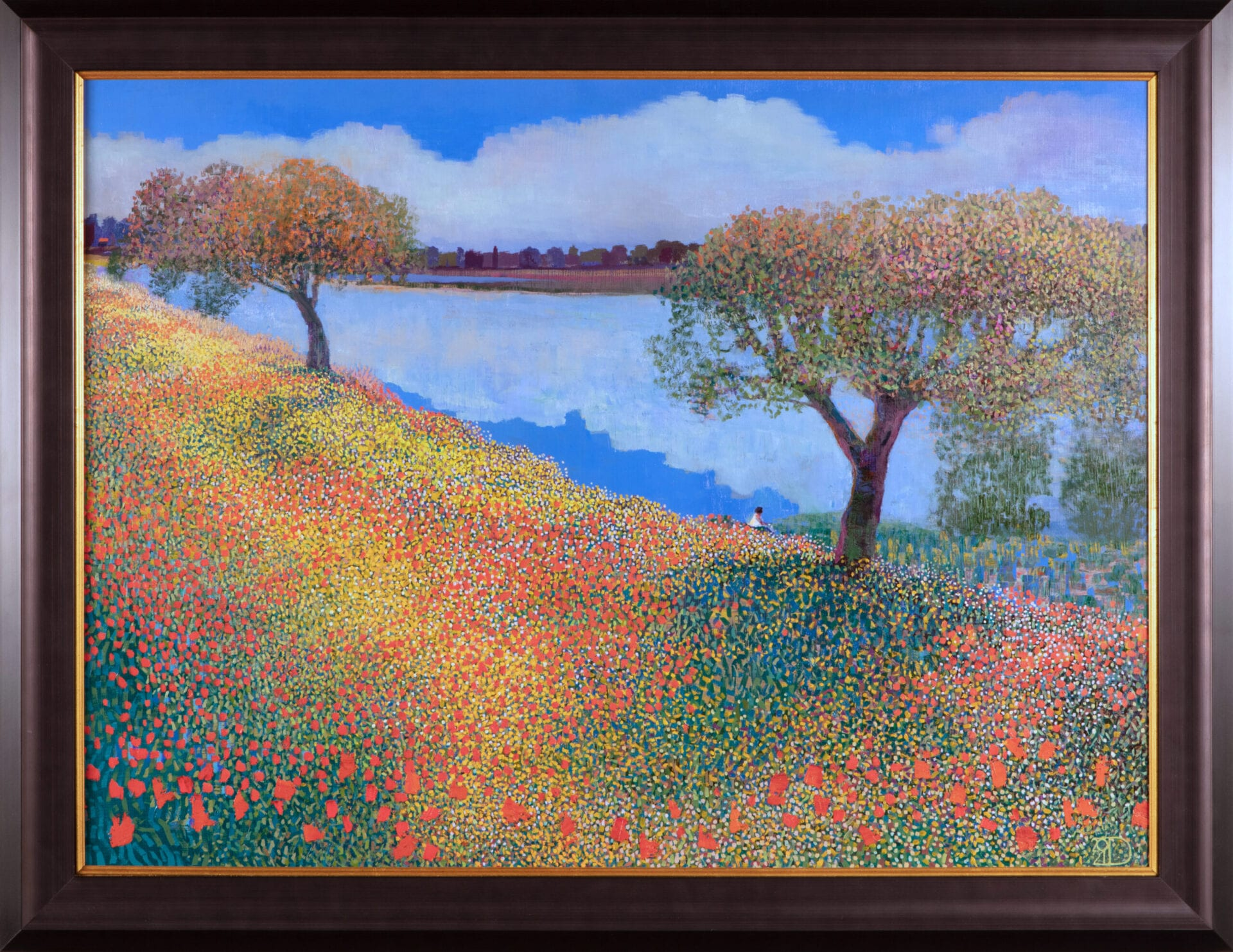 Down by the River | Ton Dubbeldam | Oil on Panel | 24 x 32""