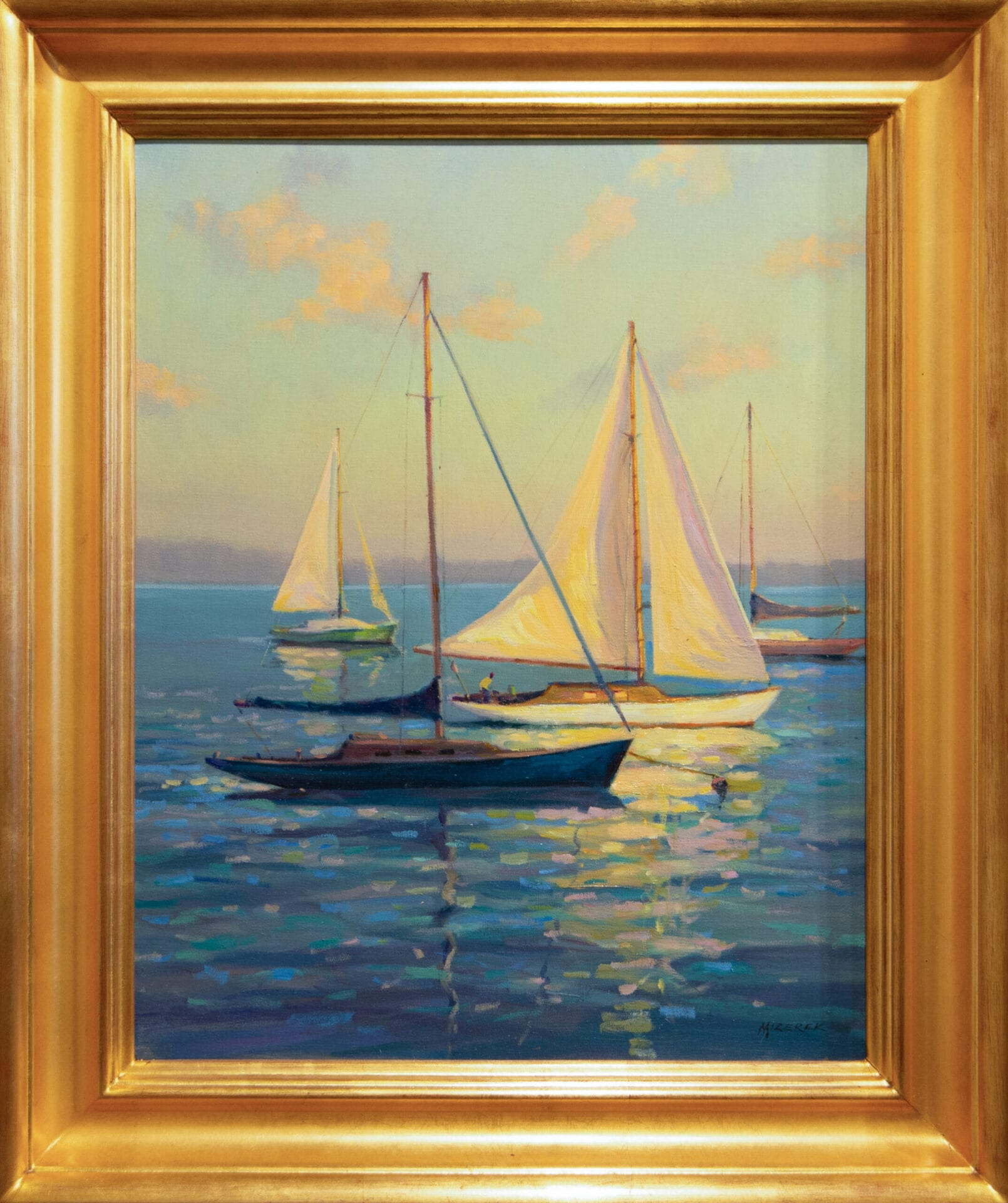 "Calm Waters   Leonard Mizerek   Oil on Canvas   20 x 16"""