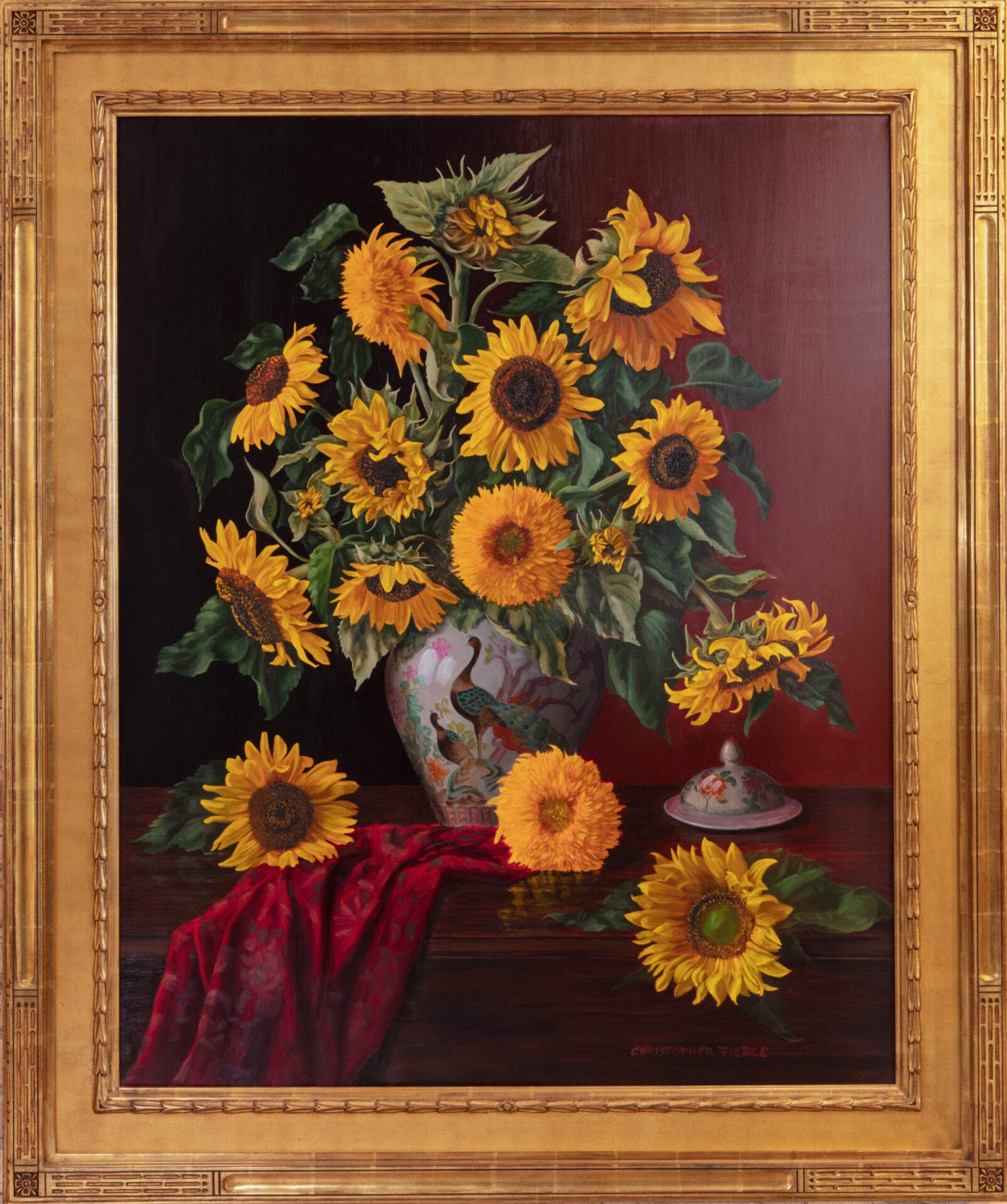 Sunflowers | Christopher Pierce | Oil on Canvas | 50 x 40""