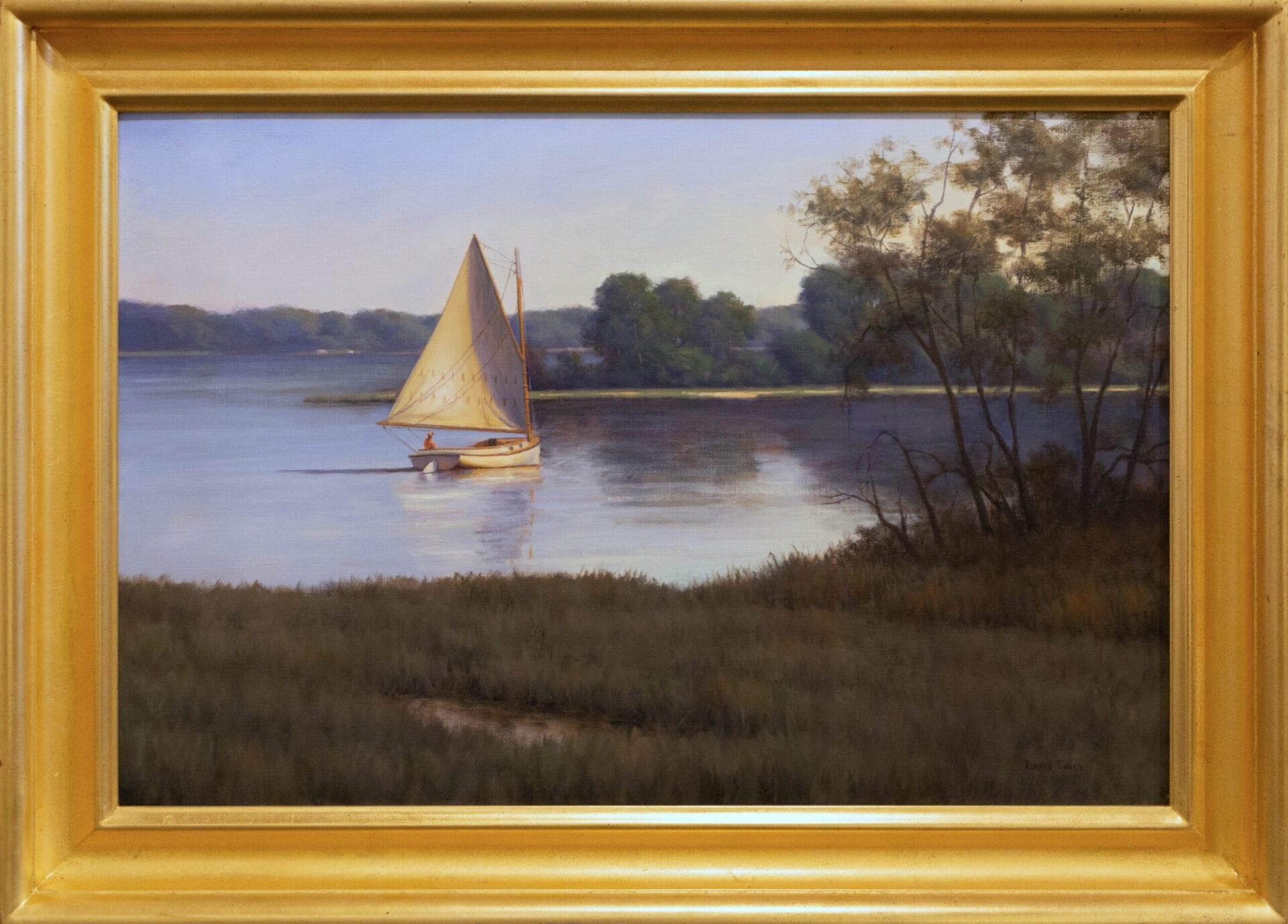 """Sun and Shade   Ronald Tinney   oil on canvas   20 x 30"""""""