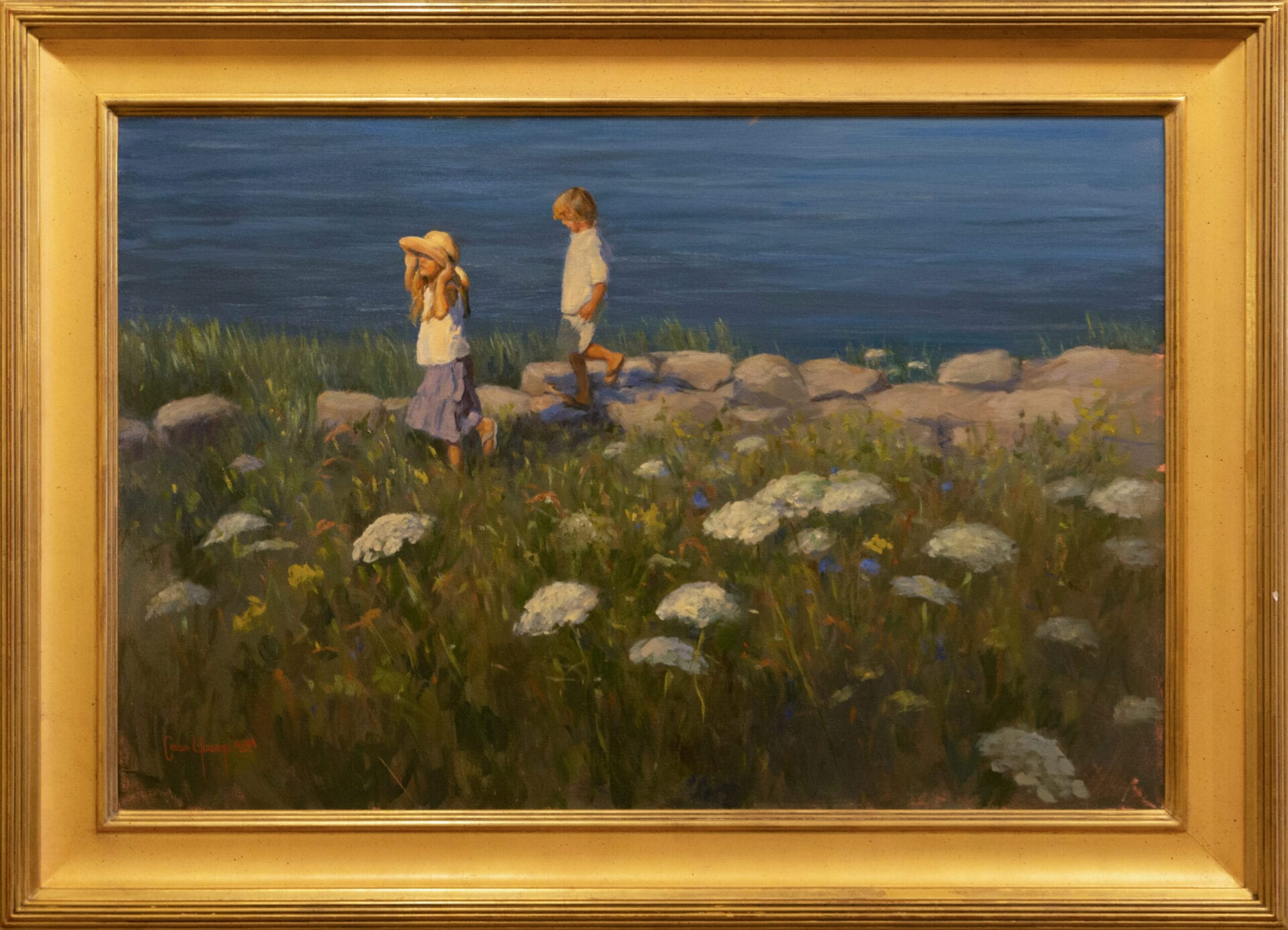 """Under the Summer Sun   Shirley Cean Youngs   Oil on Canvas   24 x 36"""""""