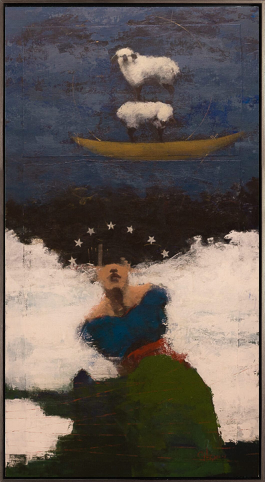 "Cathy Hegman | Dreams of Home | acrylic on linen | 64x34"""