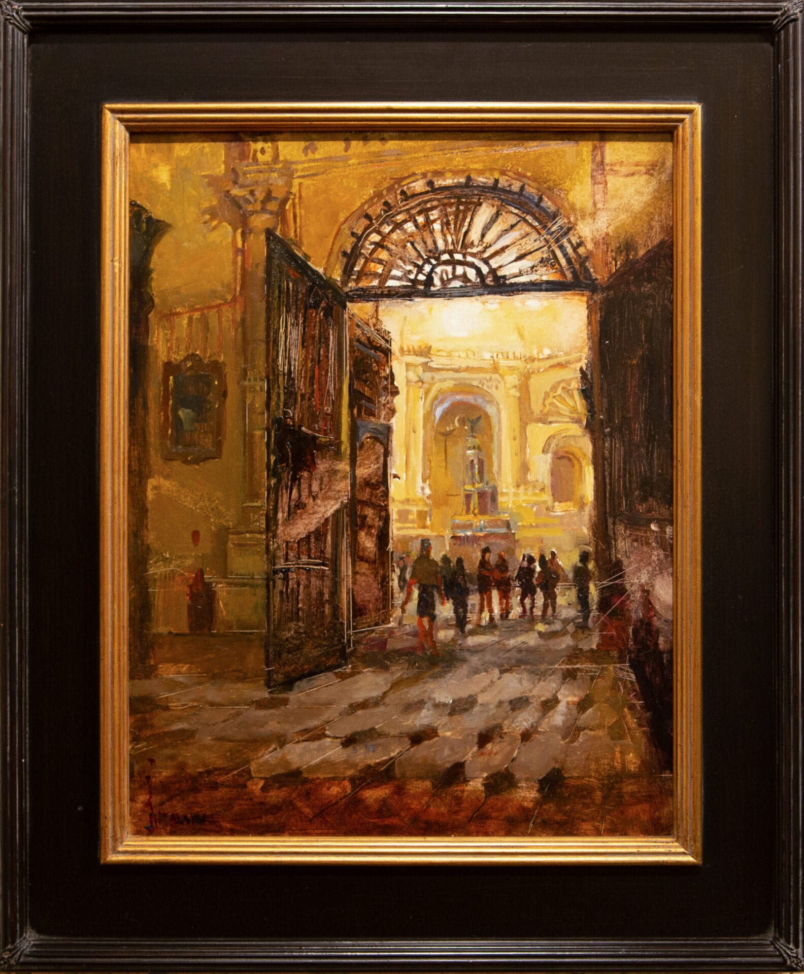 "Golden Gates | Stacy Kamin | oil on canvas | 18x14"""
