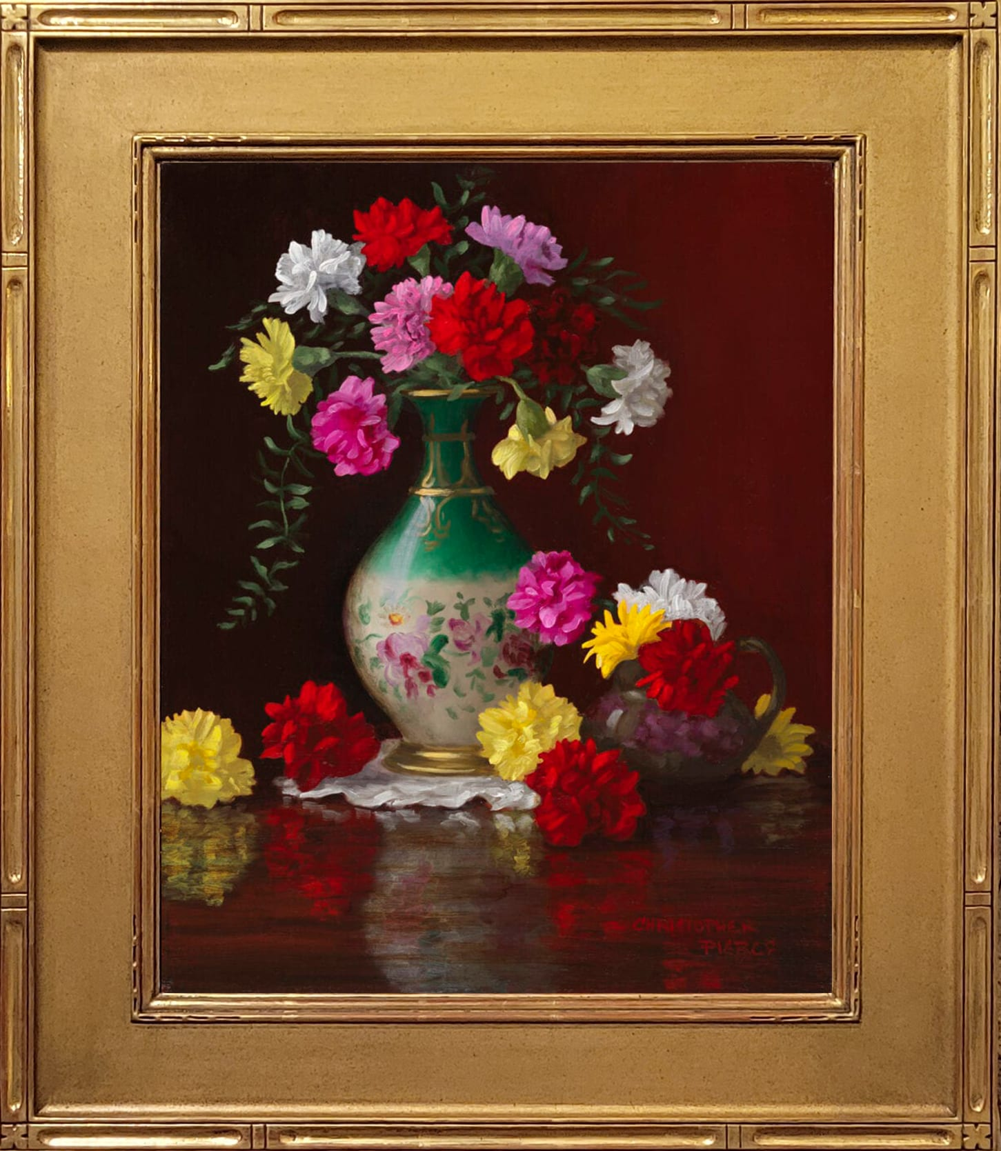 Pierce_Victorian_Vase_with_Carnations_20x16_Frame
