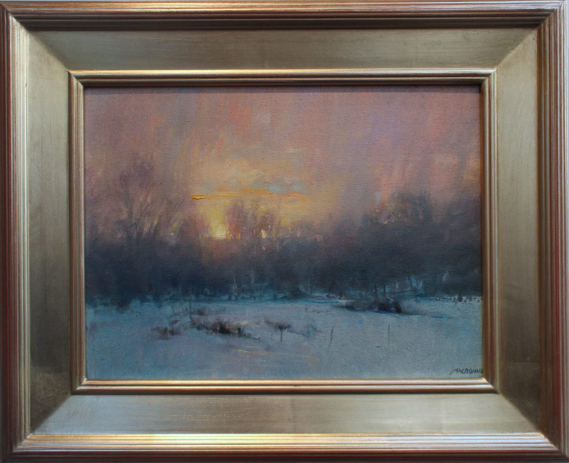 MacDonald_Sunset_Flurries_12x16_Frame