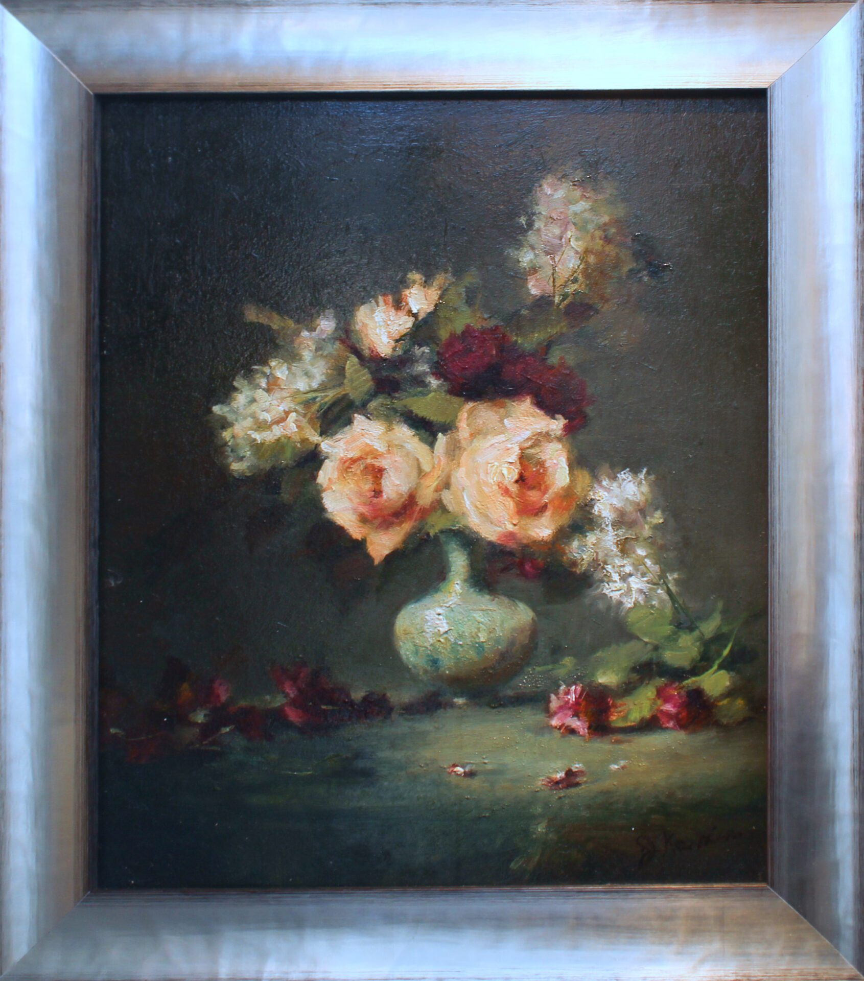 Kamin_Lilacs_and_Roses_16x13_Frame