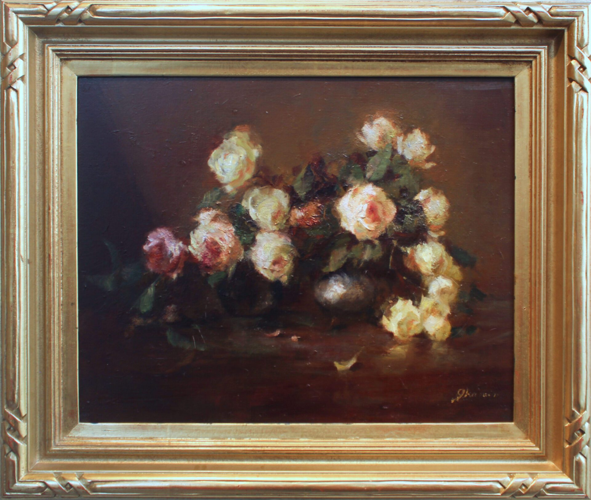 Kamin_Pink_and_Yellow_Roses_16x20_Frame