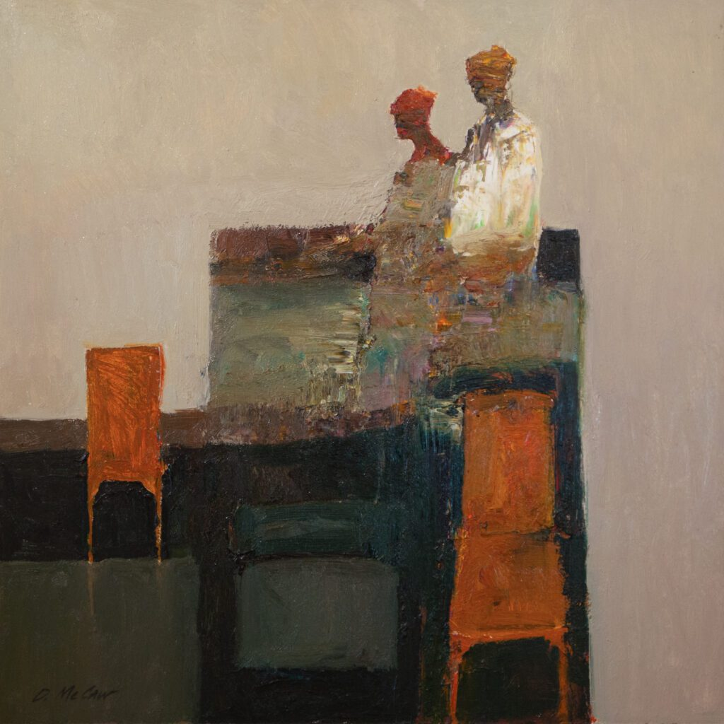 Dan McCaw- Orange Chair